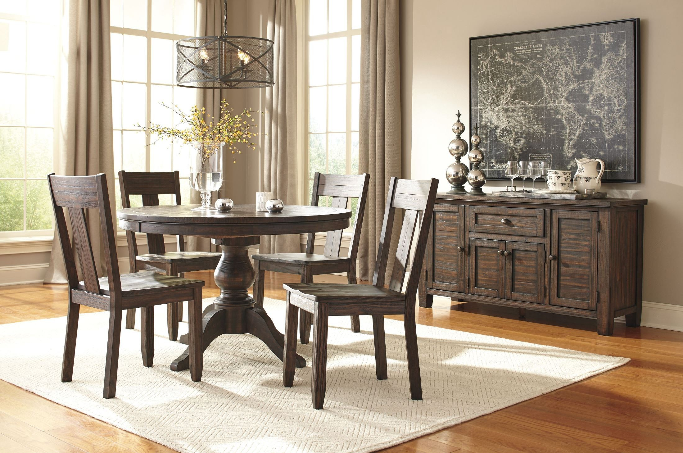 Trudell dark brown dining room server from ashley d658 60 for Dining room server