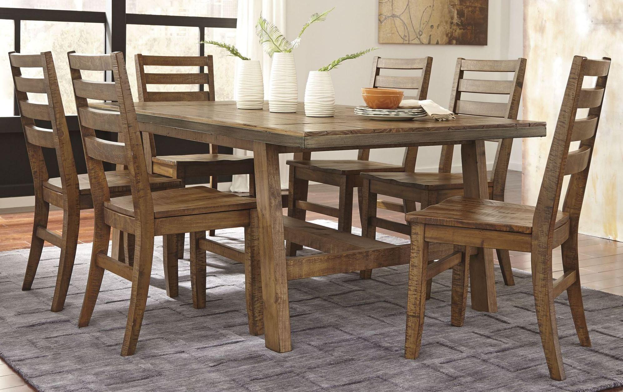 Dondie Light Brown Rectangular Dining Room Set D663 25