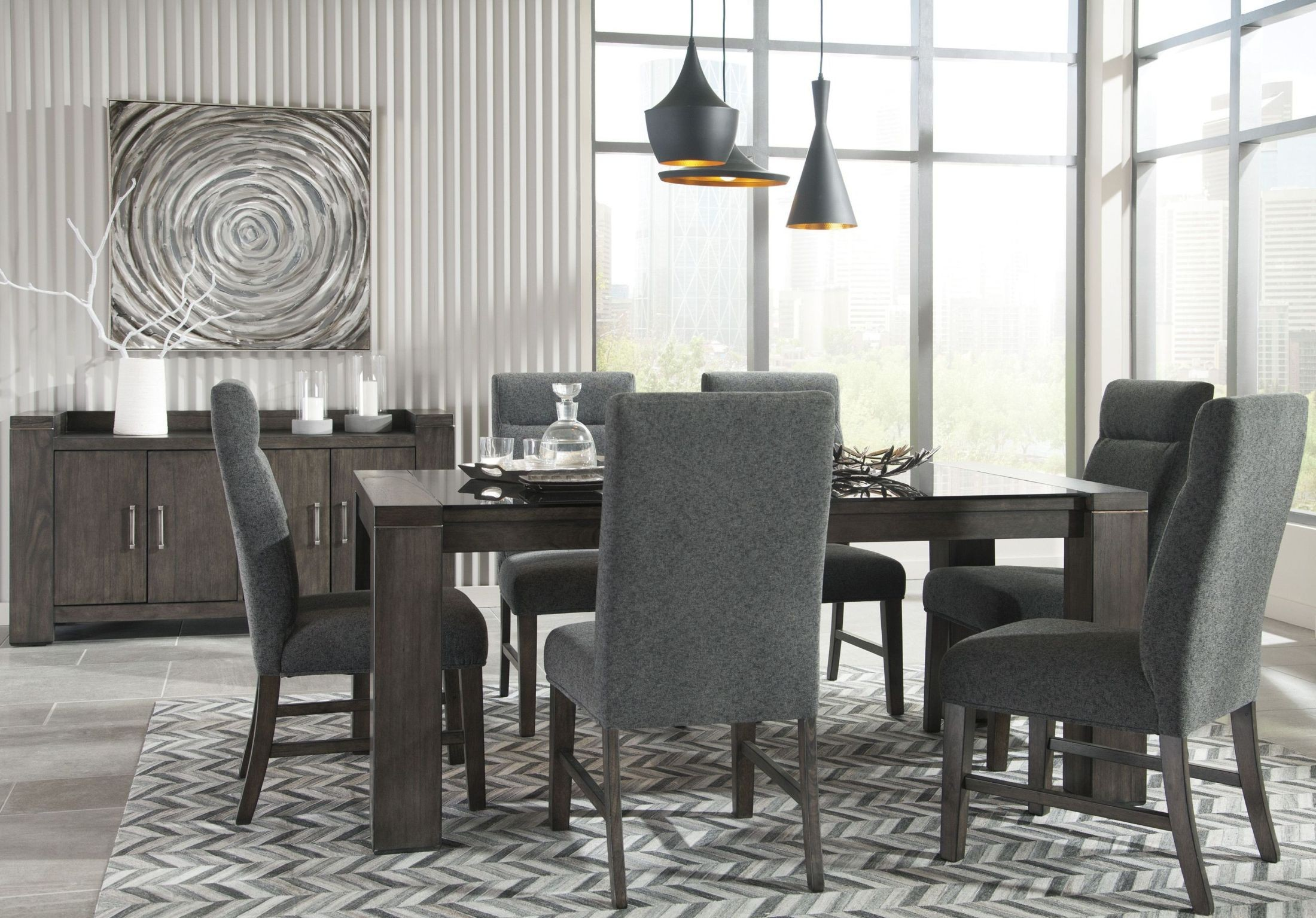Chansey Dark Gray Dining Room Server from Ashley | Coleman Furniture