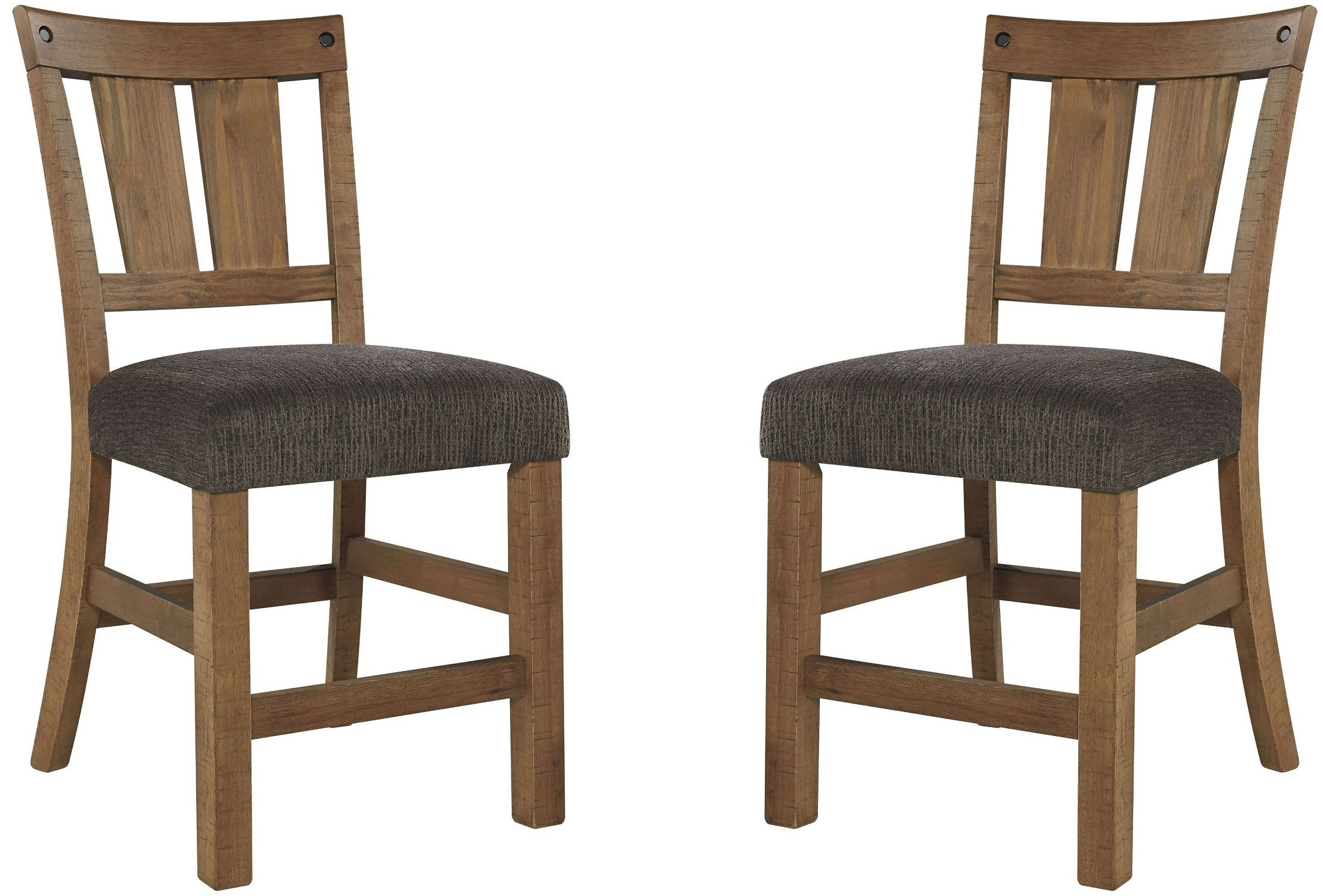 Tamilo Dark Brown Upholstered Counter Stool Set Of 2 From