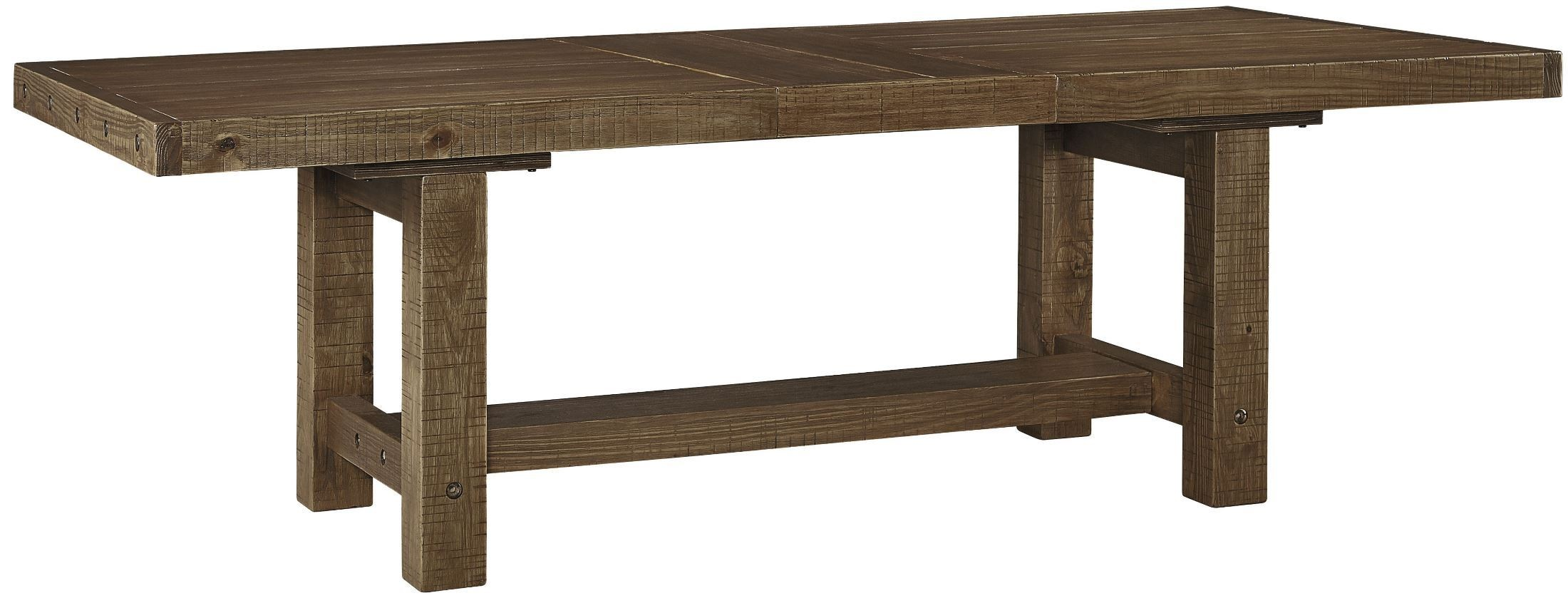 Tamilo Gray Brown Rectangular Extendable Dining Table