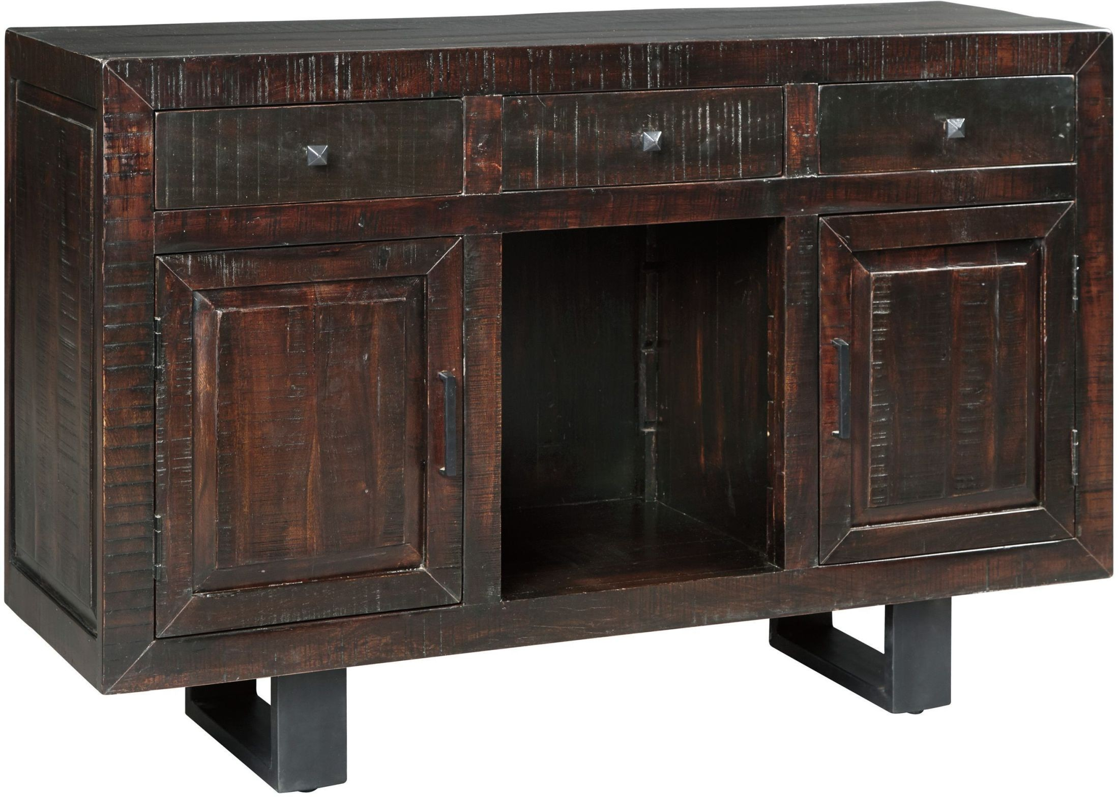 Parlone Dark Brown Dining Room Server From Ashley