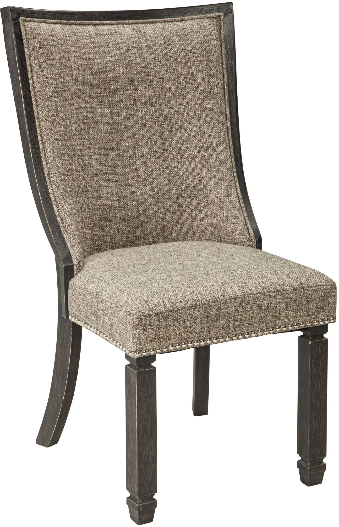 Tyler Creek Black And Gray Upholstered Host Chair Set Of 2