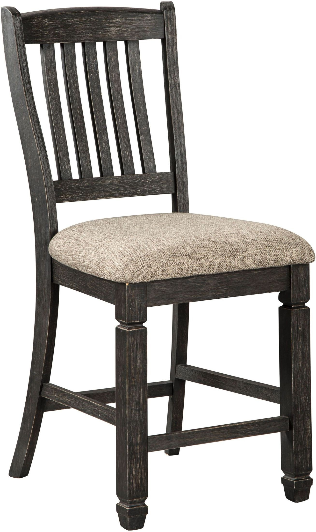 Tyler Creek Black And Gray Upholstered Barstool Set Of 2 From Ashley Coleman Furniture