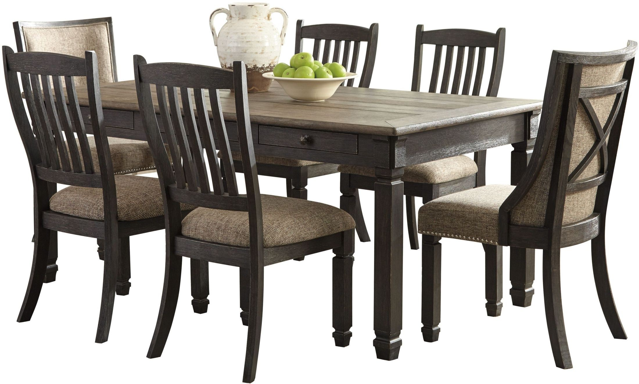Tyler Creek Black And Gray Rectangular Dining Room Set