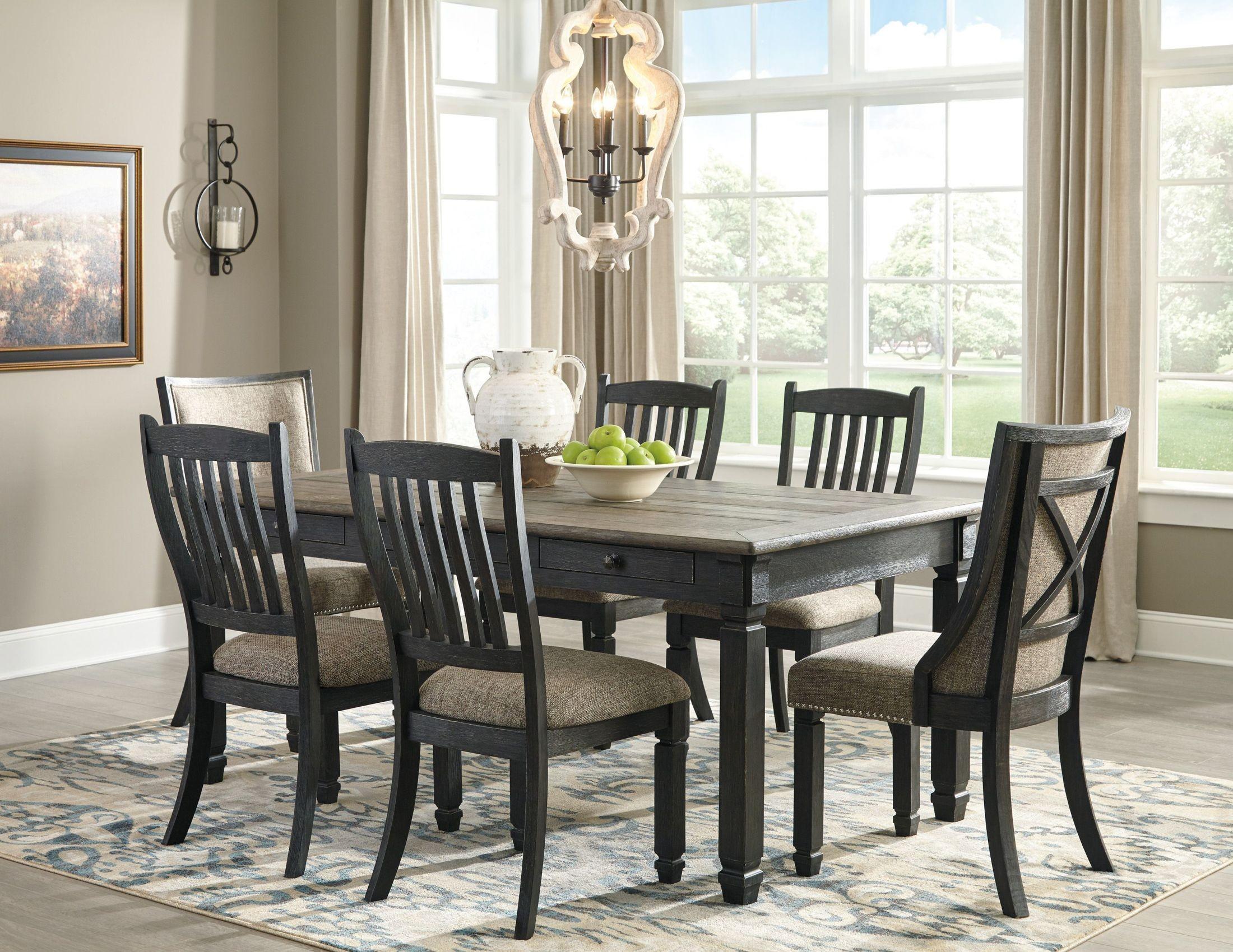 Tyler Creek Black and Gray Rectangular Dining Room Set ...