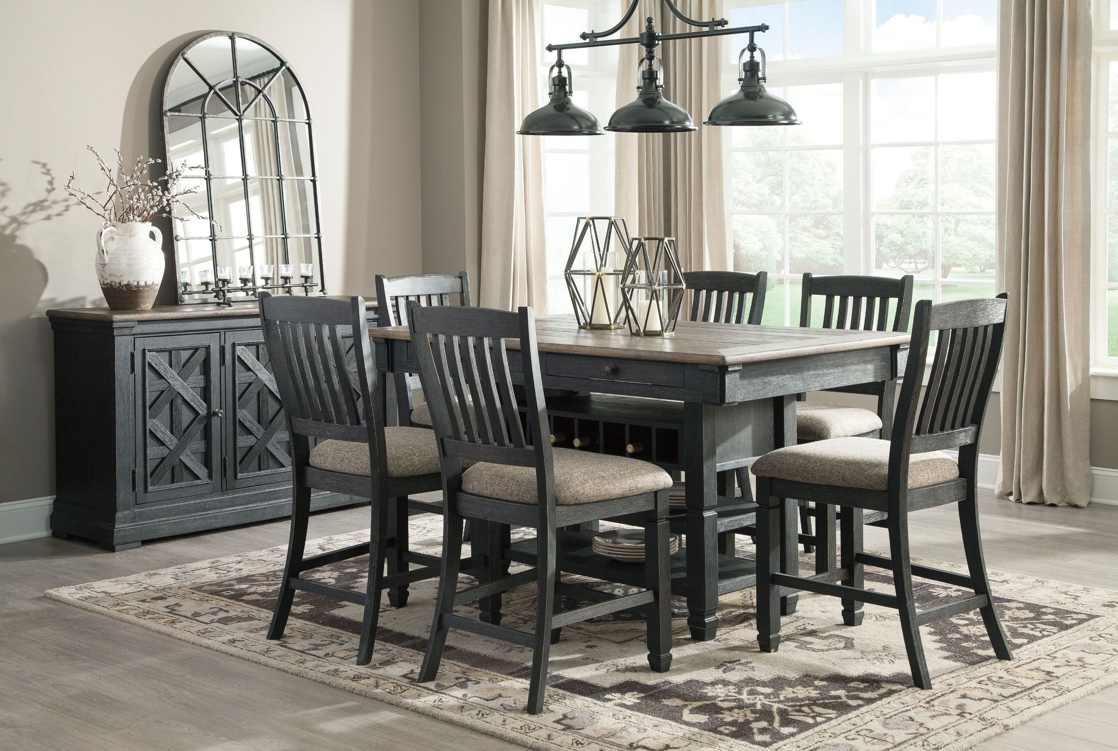 of legs buffet alluring size top black a long full the looks chair chairs and soft dining formal beside metal set an table with tablewares room rectangular glass