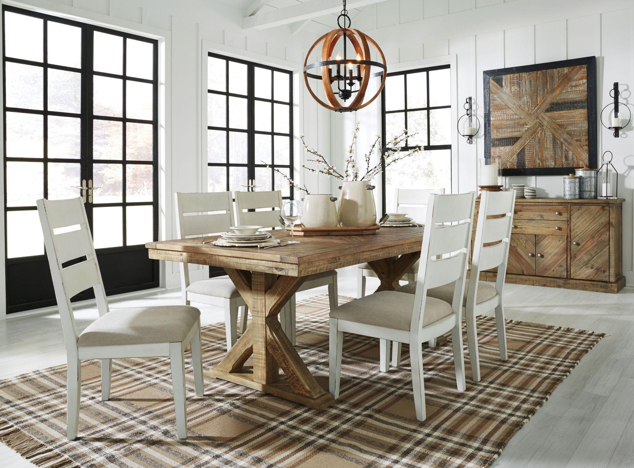 Grindleburg Light Brown Rectangular Dining Room Set From Ashley | Coleman  Furniture