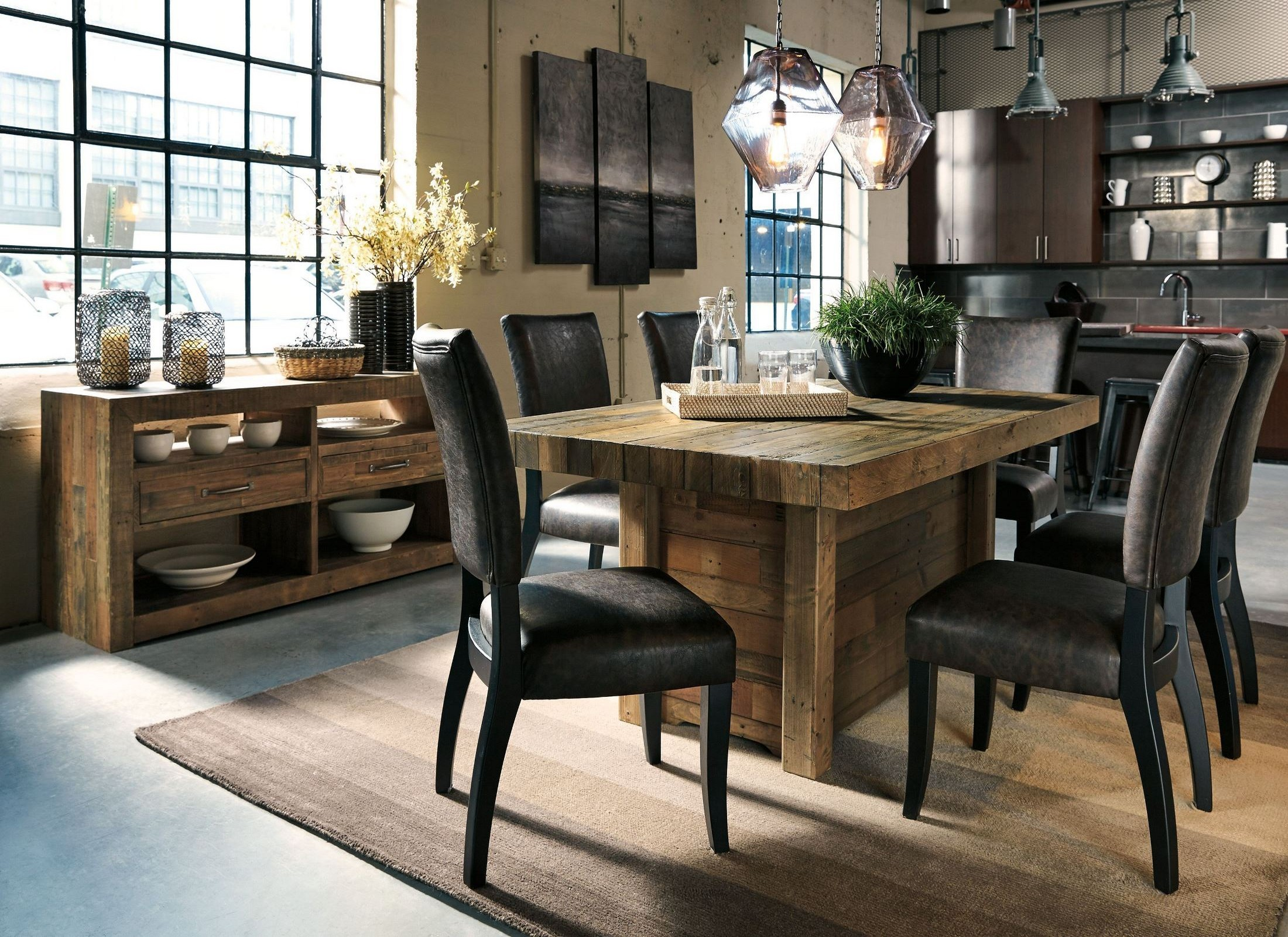 Sommerford Brown Rectangular Dining Room Set From Ashley