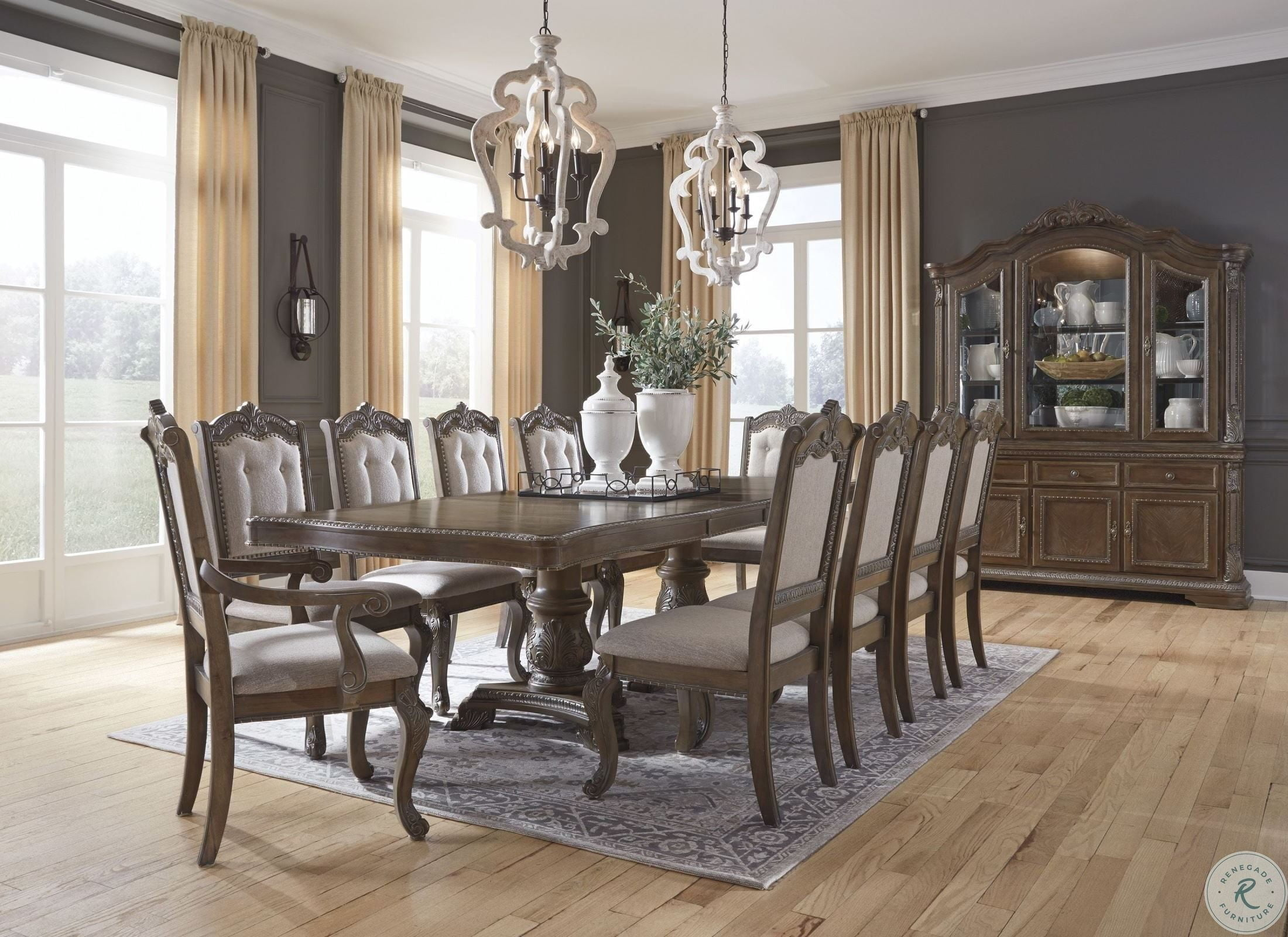 Charmond Brown Extendable Dining Room Set