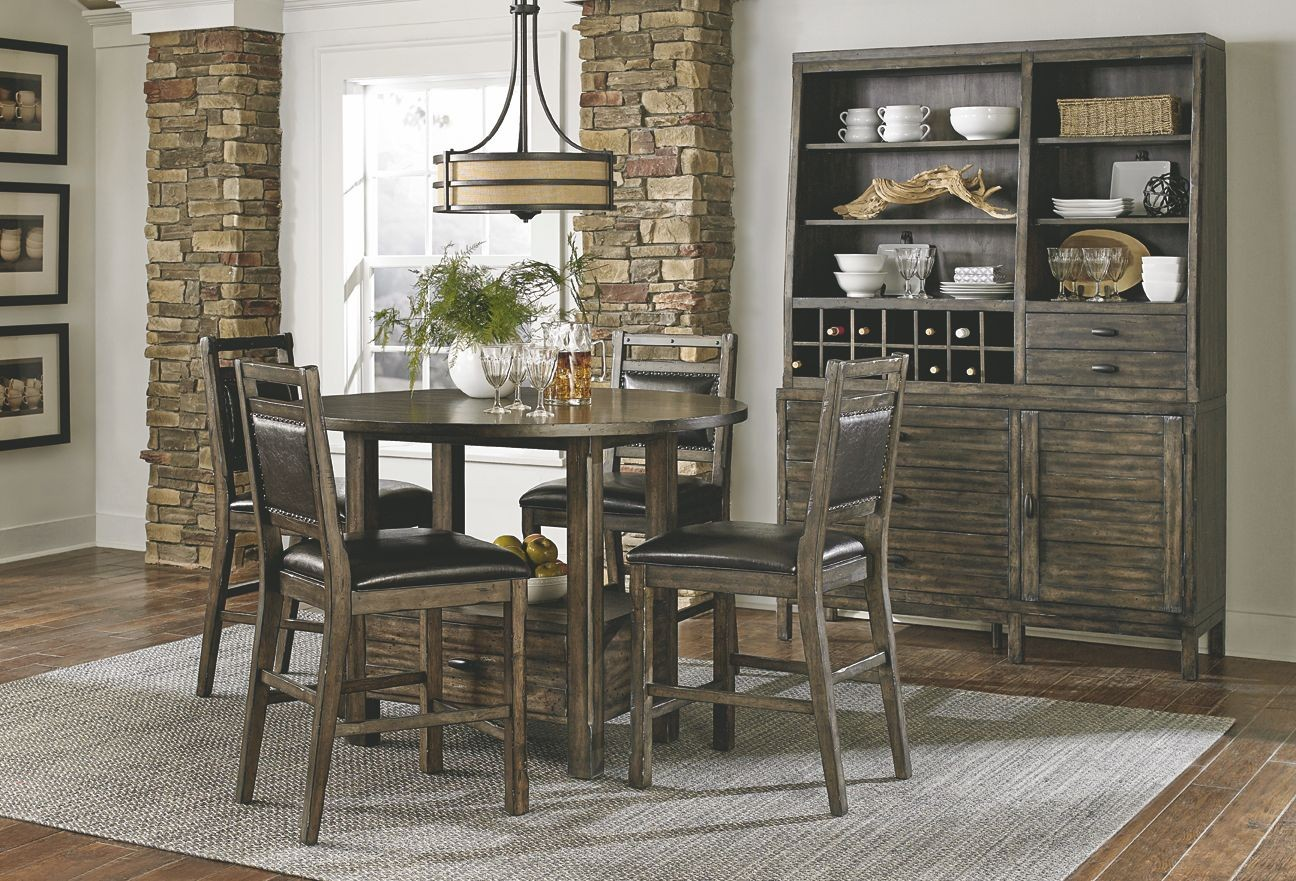 Crossroads Birch Smoke Upholstered Counter Chair Set Of 2 From Progressive Furniture Coleman