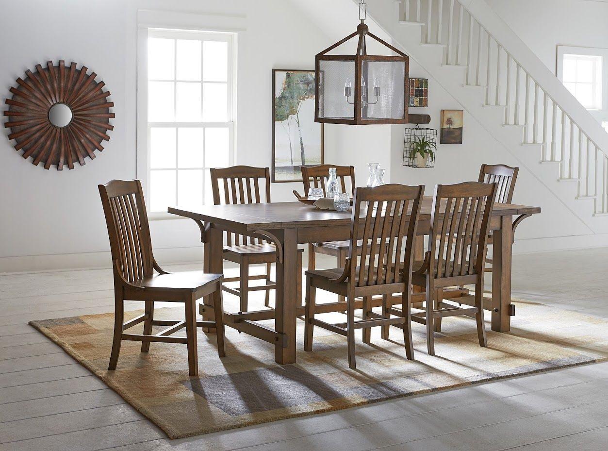 homa medium oak dining room set from progressive furniture coleman furniture. Black Bedroom Furniture Sets. Home Design Ideas