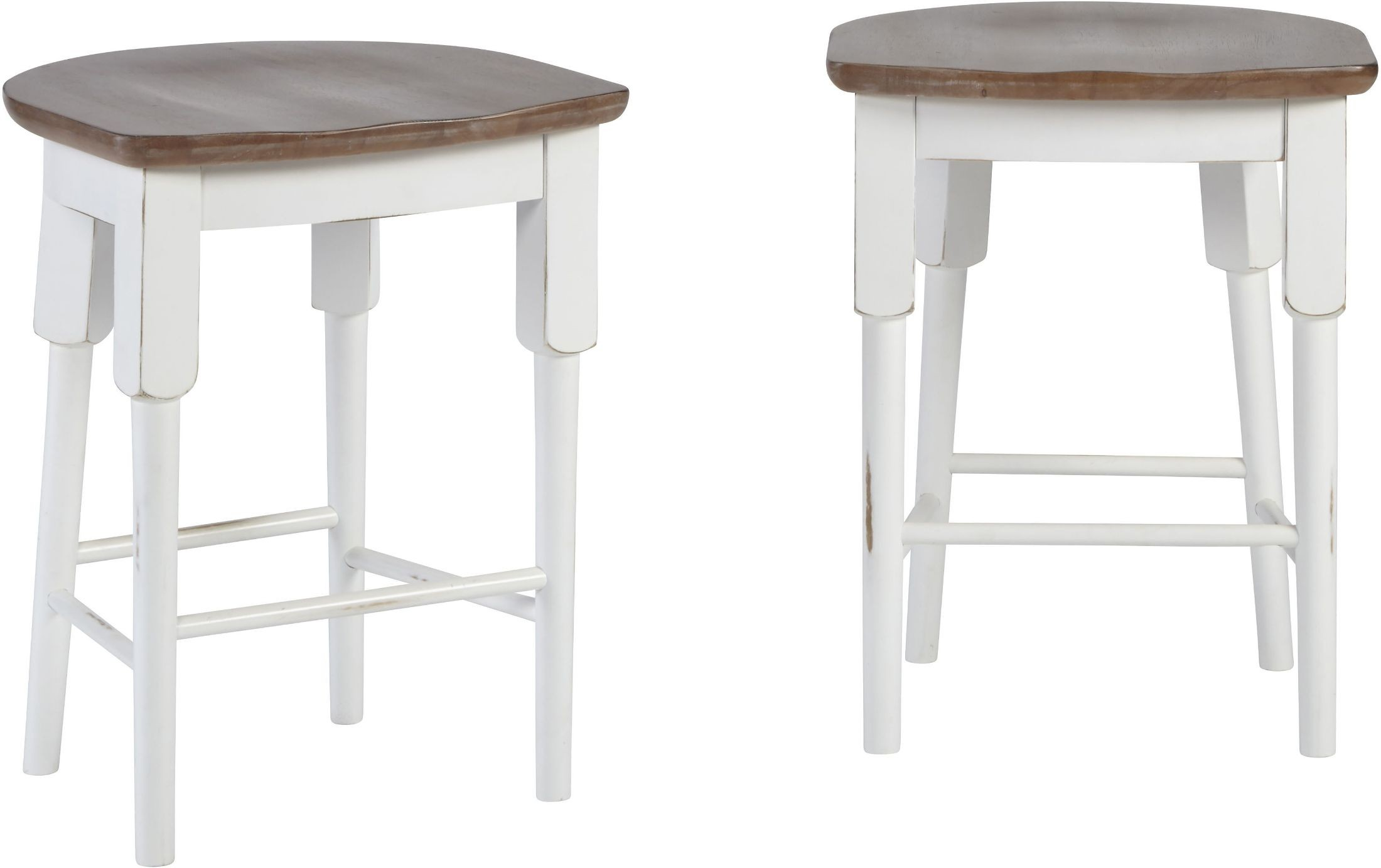 Peachy Shutters Light Oak And Distressed White Counter Stool Set Of 2 Dailytribune Chair Design For Home Dailytribuneorg