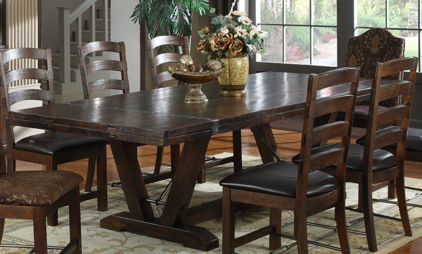 Castlegate Pine Dining Table From Emerald Home Coleman Furniture