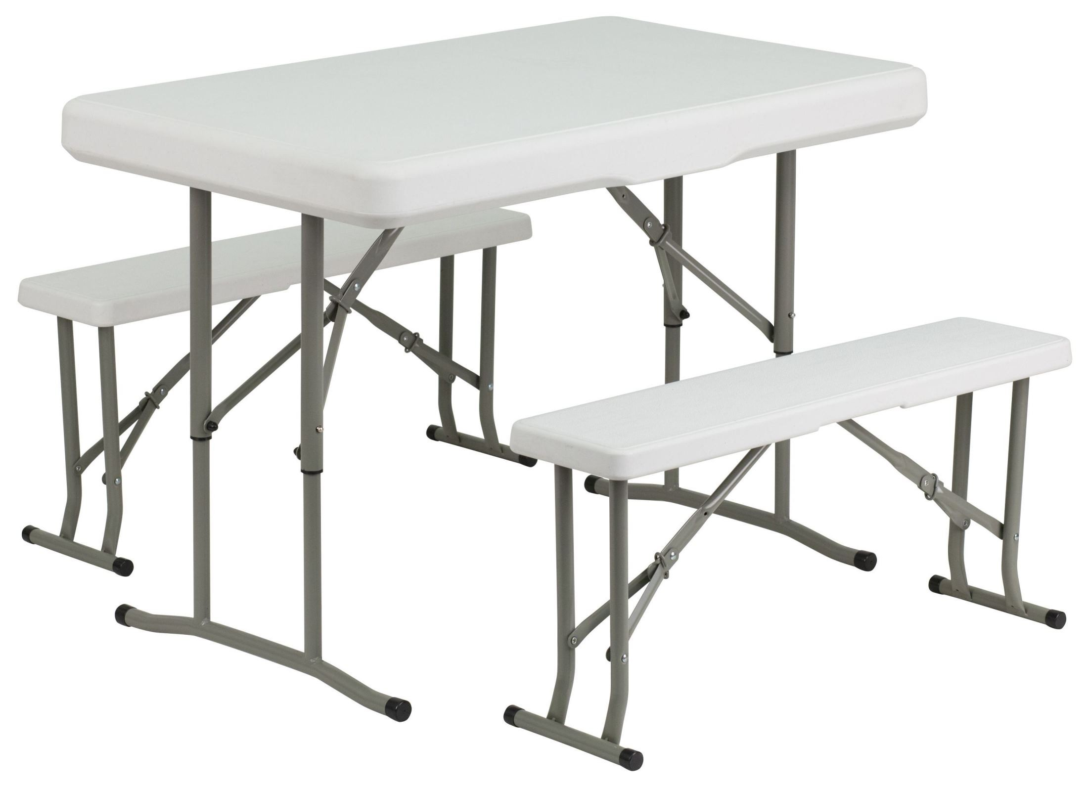 Plastic Folding Table And 2 Benches Set From Renegade
