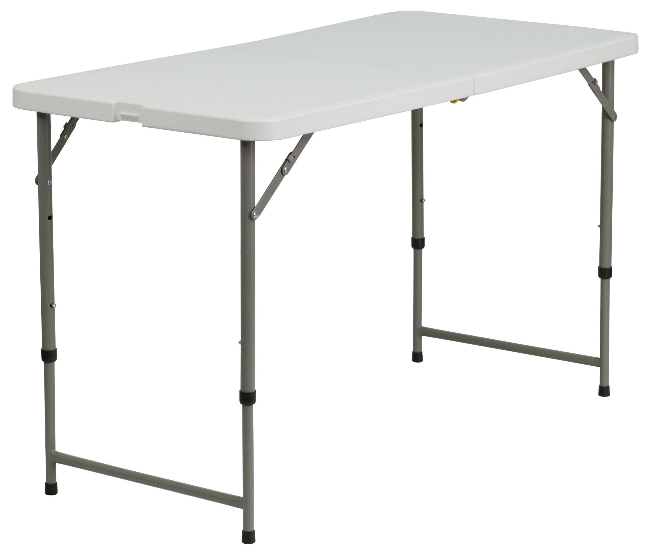 Adjustable Height Granite White Plastic Folding Table From