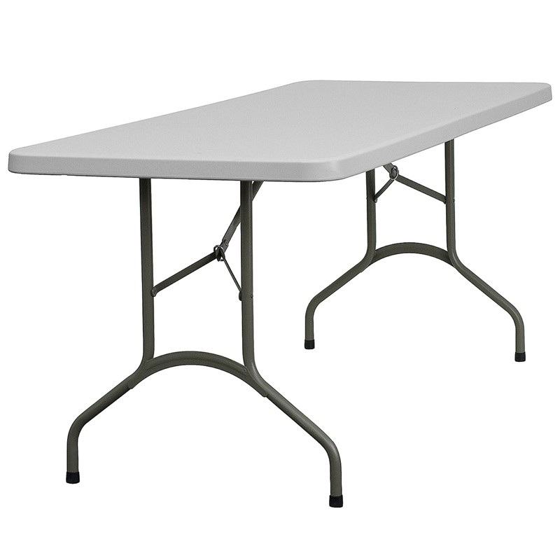 30 39 39 w x 72 39 39 l granite white plastic folding table from renegade coleman furniture. Black Bedroom Furniture Sets. Home Design Ideas