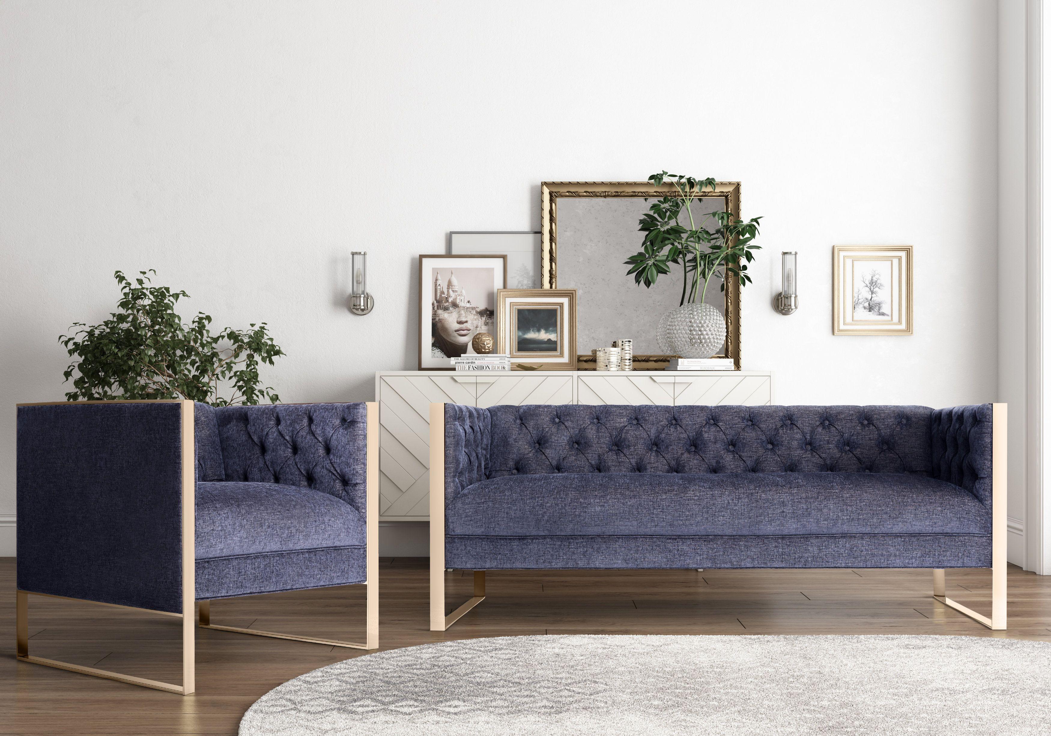 Farah Dark Gray Living Room Set from TOV