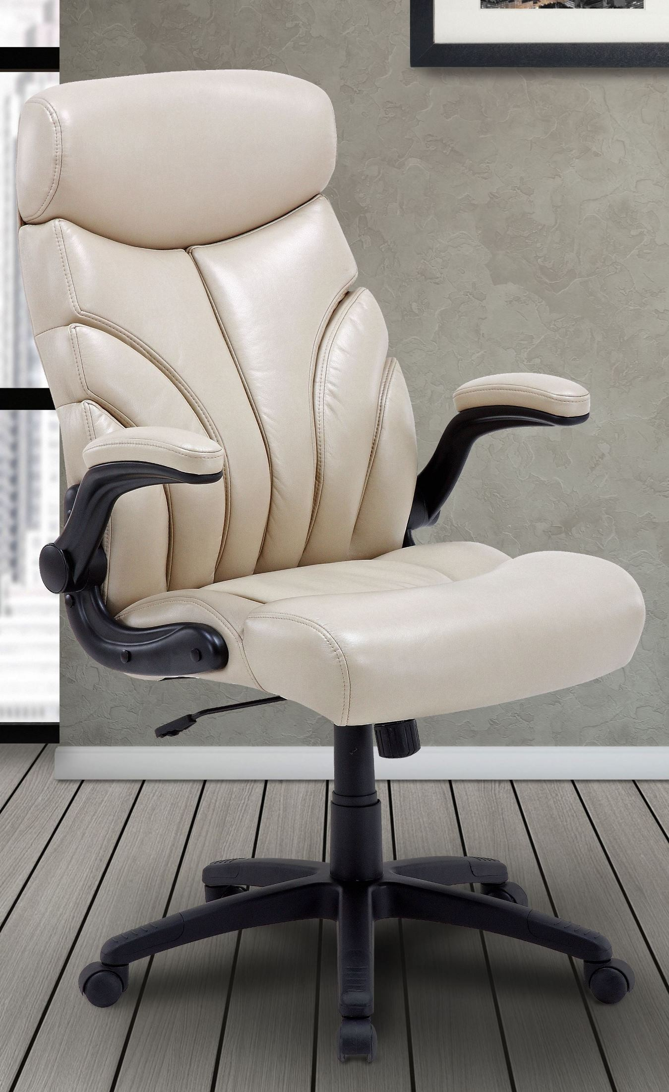 Signature Creme Lift Arm Desk Chair From Parker Living
