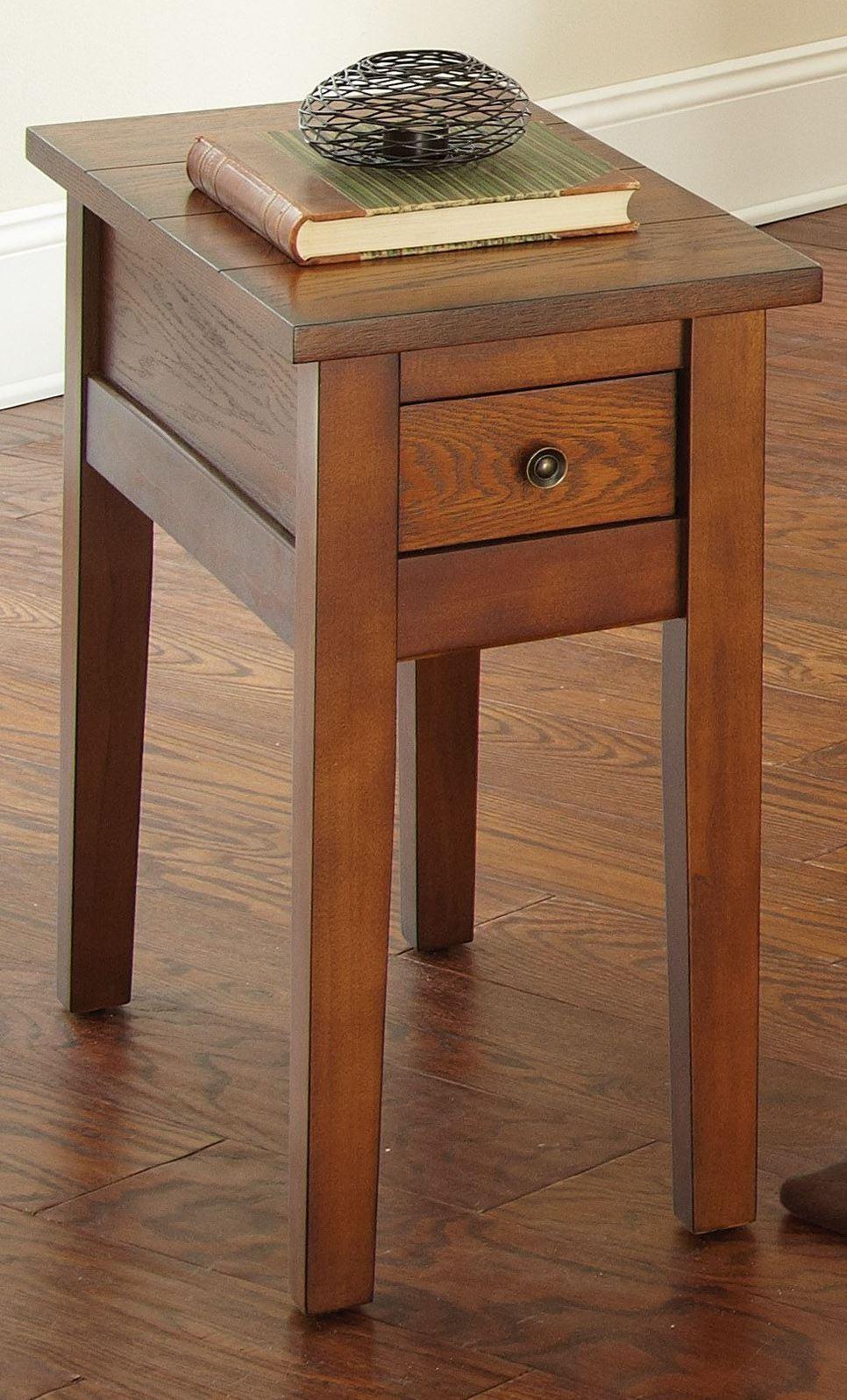 Oak Side Table: Desoto Medium Red Oak Chairside End Table From Steve