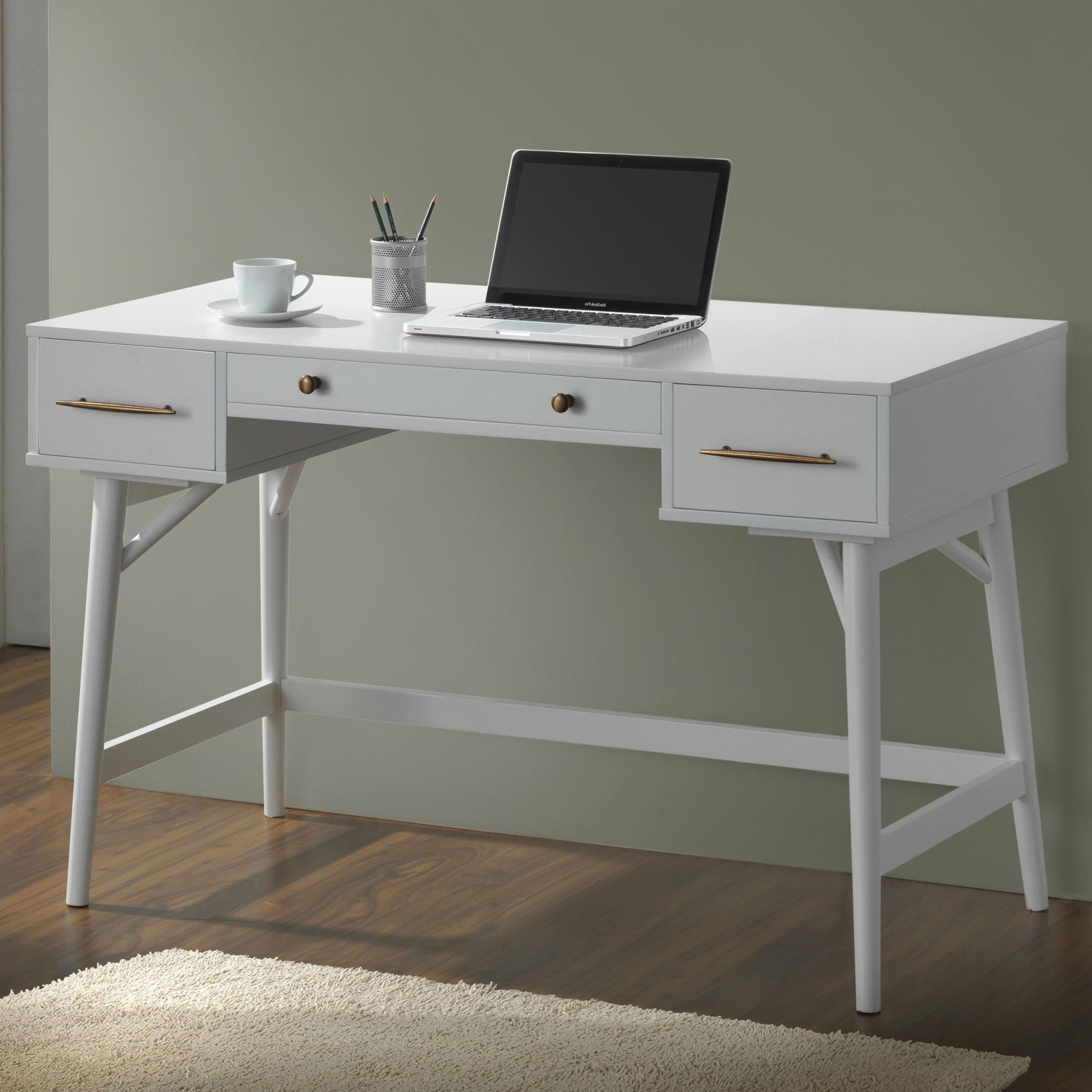 800745 White Writing Desk from Coaster (800745) | Coleman ...
