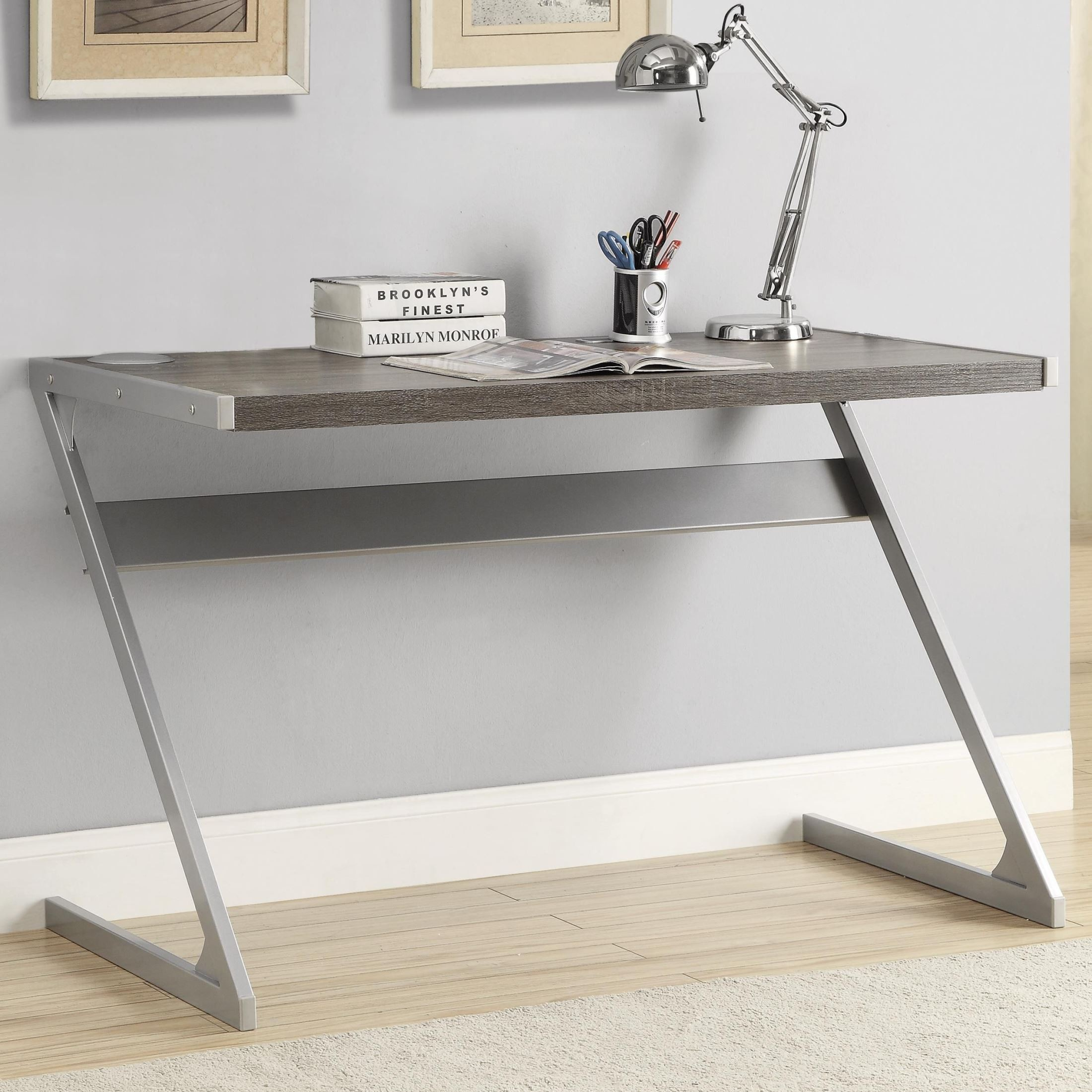 export gray mirrored inc rakuten furniture writing import desk shop silver product jameson and