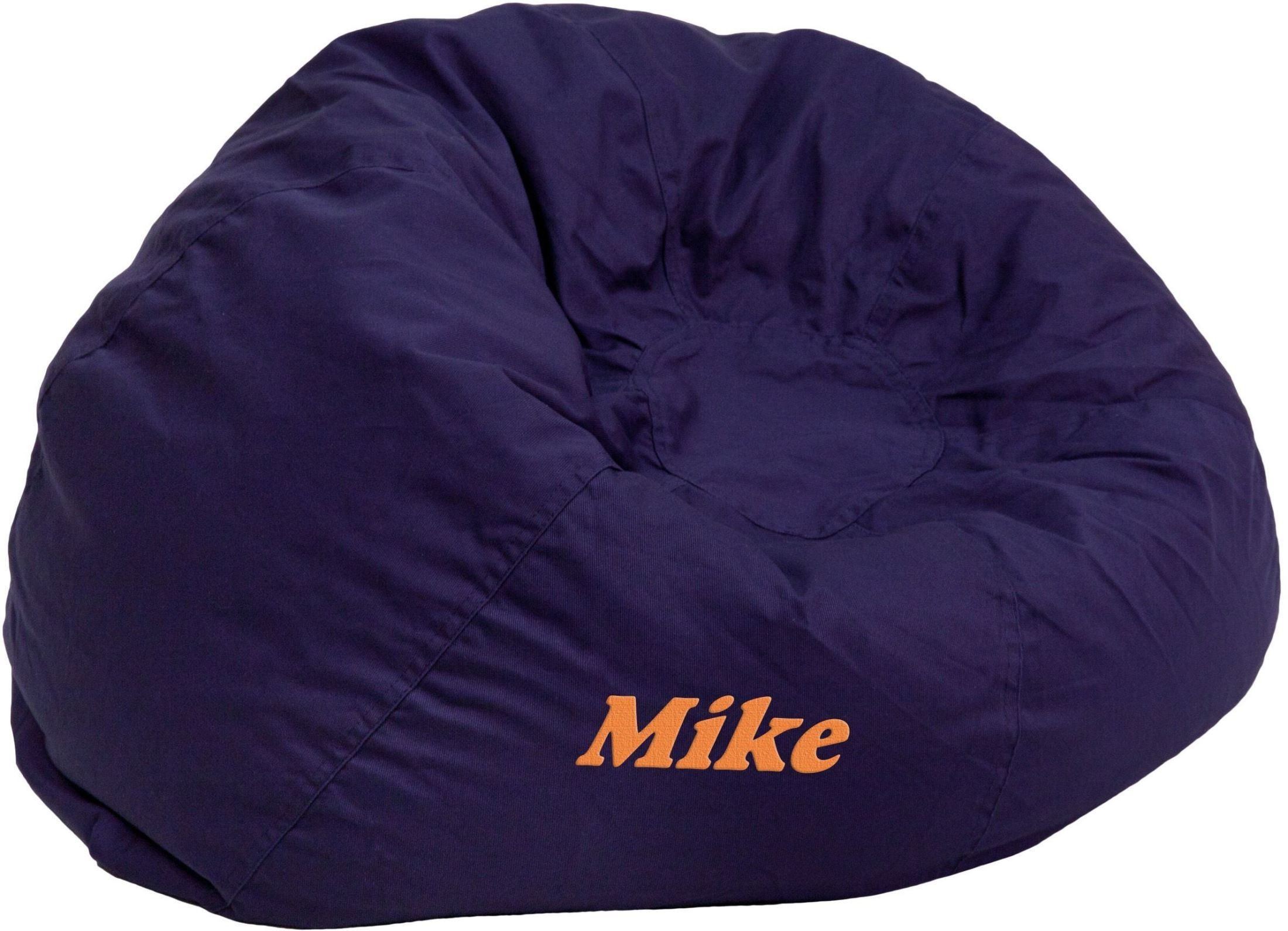 32118 Personalized Small Solid Navy Blue Kids Bean Bag