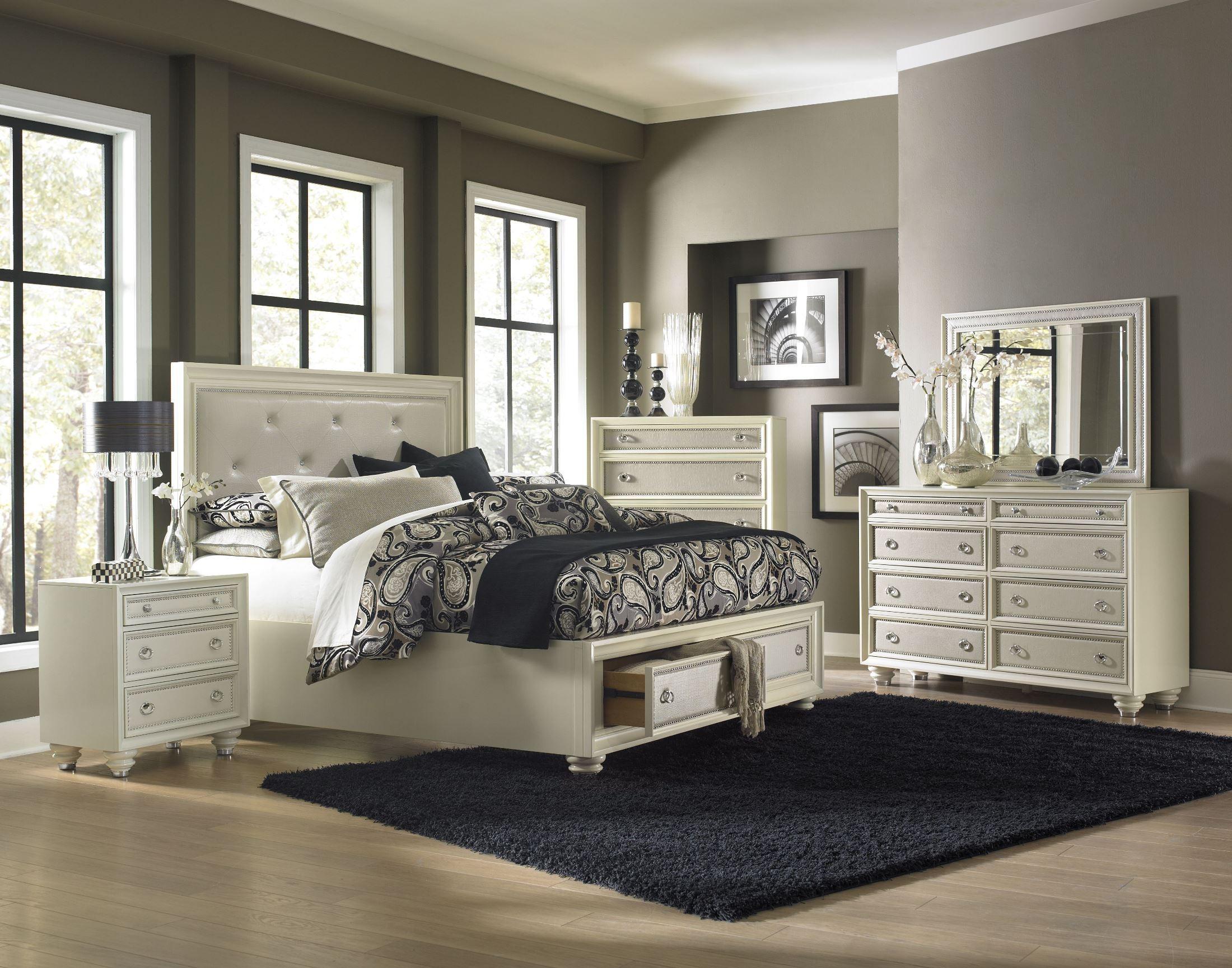 diamond island storage bedroom set from magnussen home. Black Bedroom Furniture Sets. Home Design Ideas