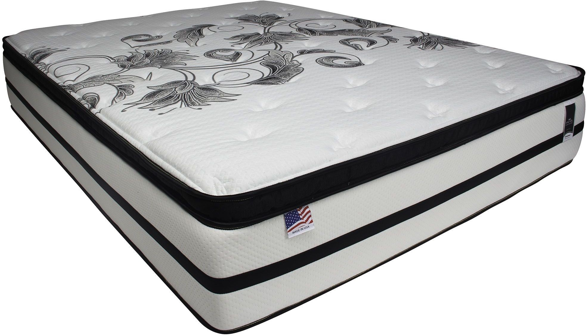Brylee 14 Euro Pillow Top King Mattress From Furniture Of America Coleman Furniture