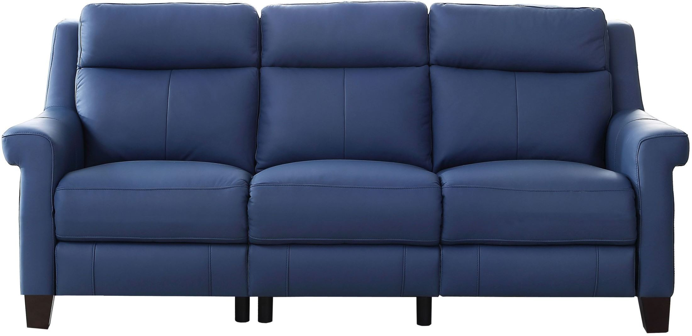 Dolce Blue Power Reclining Sofa With Power Headrest From