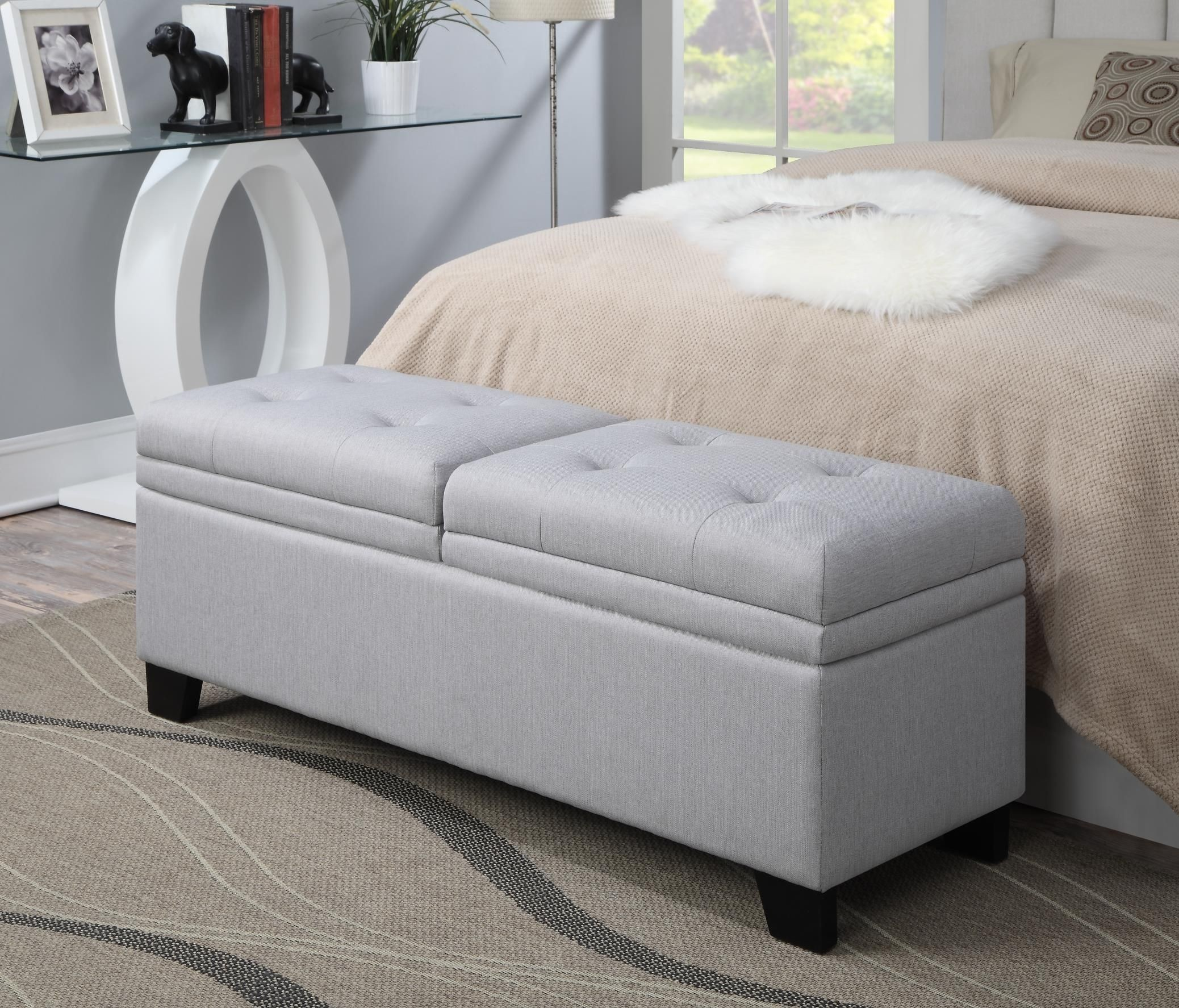Varian Upholstered Storage Bedroom Bench Reviews: Trespass Marmor Upholstered Storage Bed Bench From Pulaski