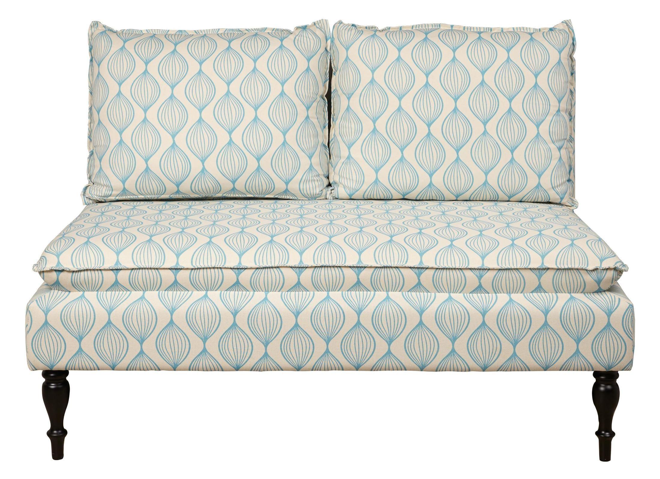 Upholstered Pattern Blue Banquette Bench From Pulaski Coleman Furniture
