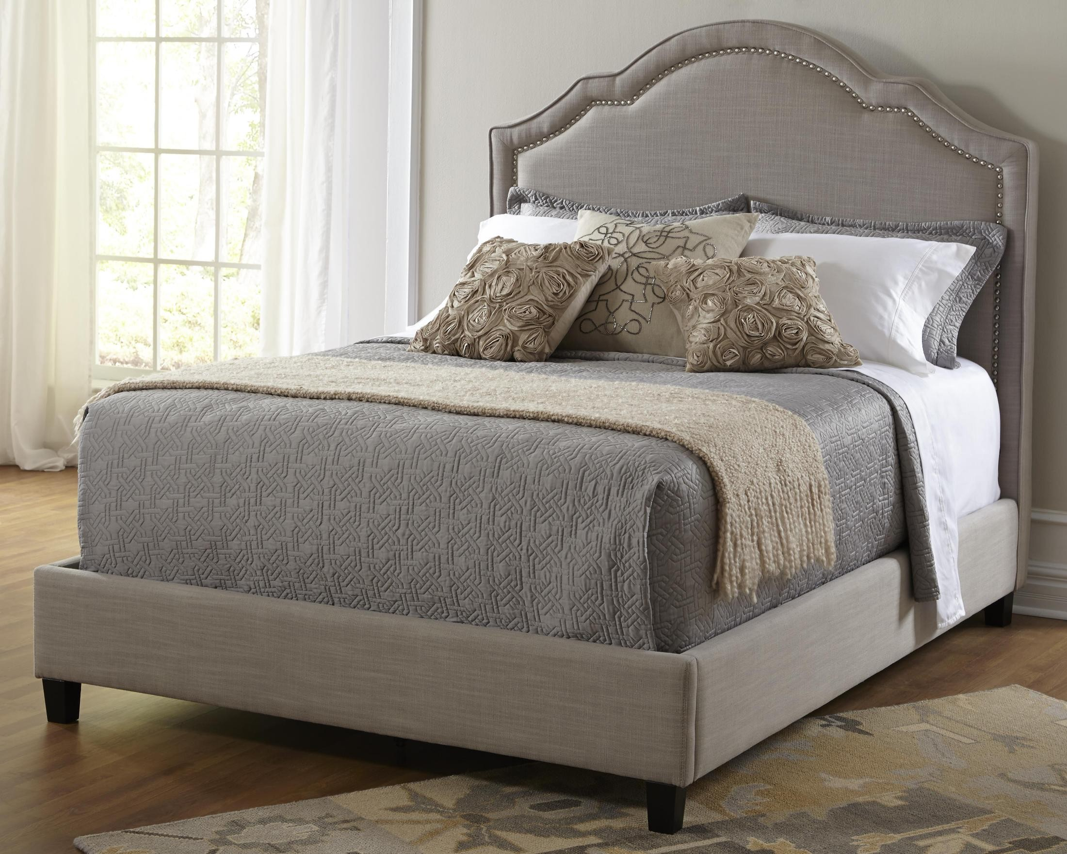 Wayfair Upholstered Bed Home Wayfair Upholstered Bed King: Queen Upholstered Shaped Nailhead Bed From Pulaski