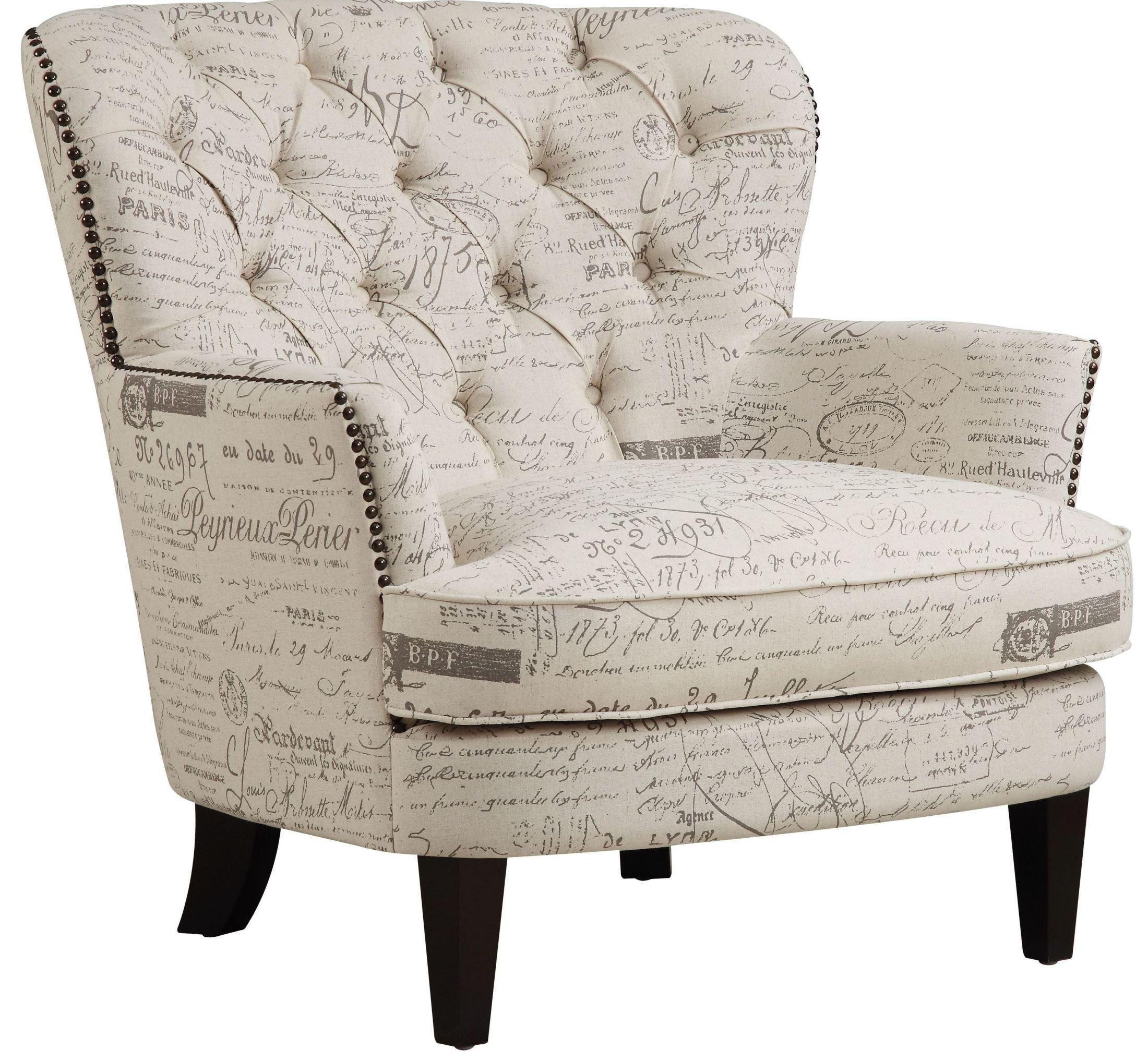 Paris Script Upholstered Arm Chair From Pulaski Coleman
