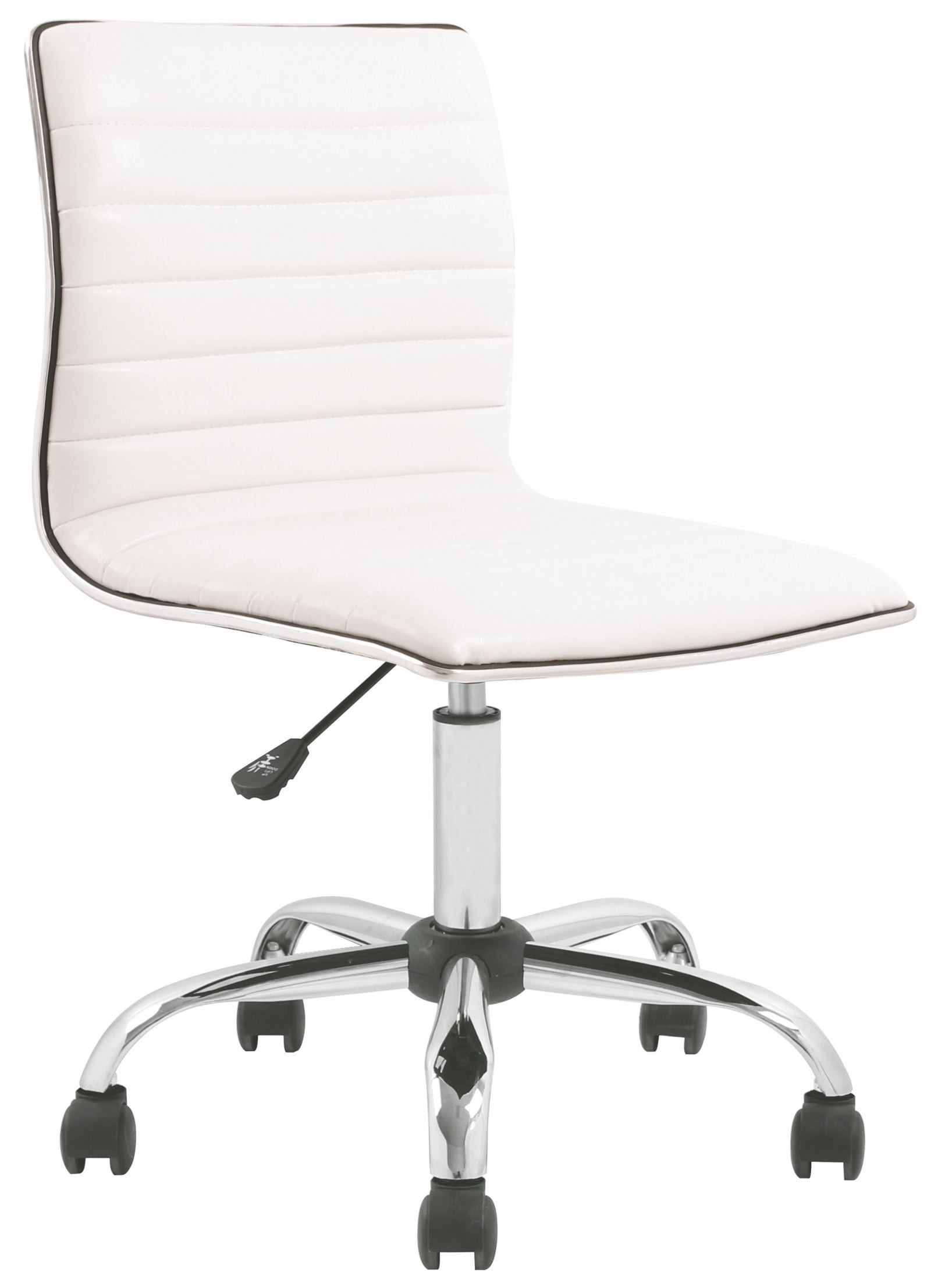 Armless White Ribbed Designer Task Chair From Renegade