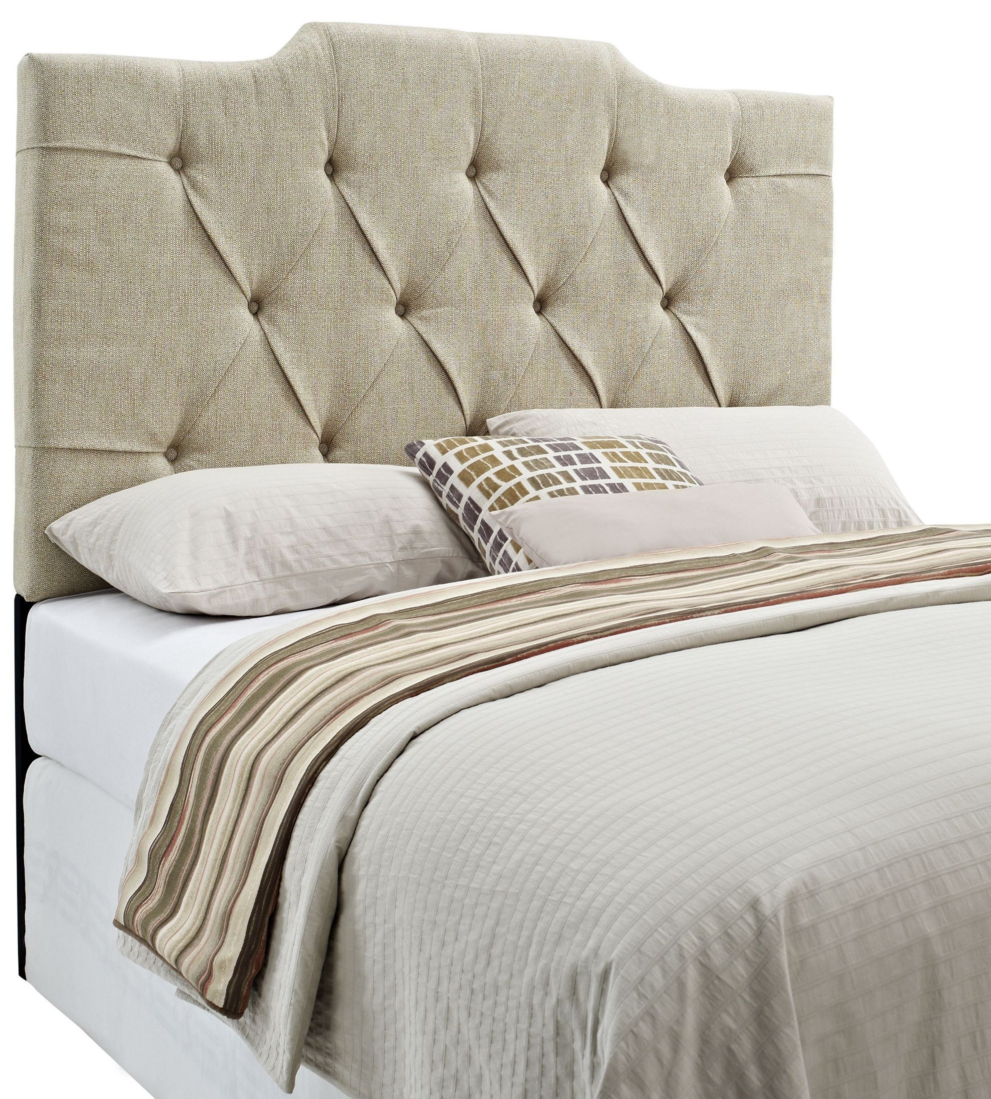 Full And Queen Tufted Linen Panel Headboard From Pulaski