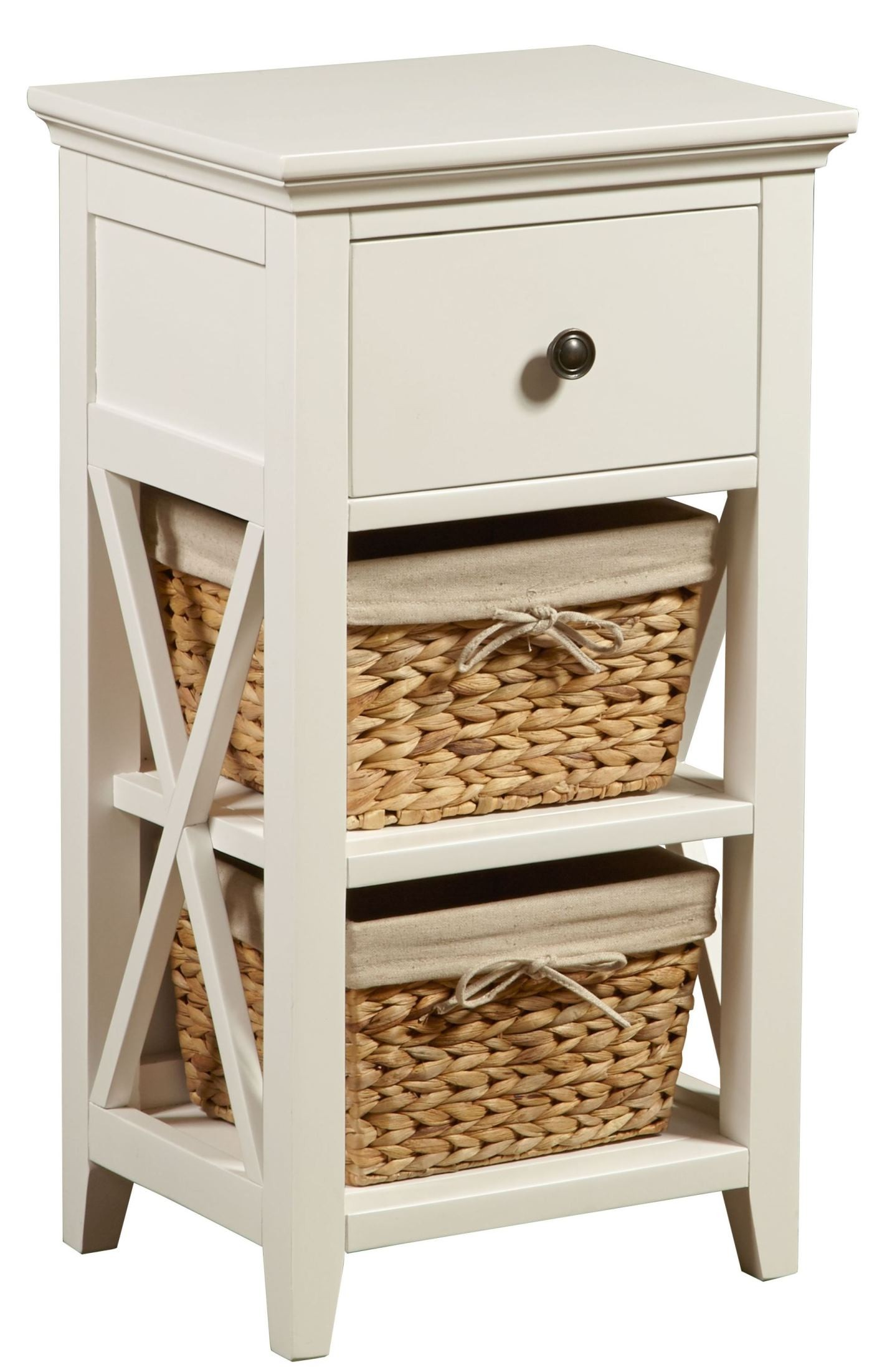 White Linen Basket Bathroom Storage From Pulaski Coleman Furniture