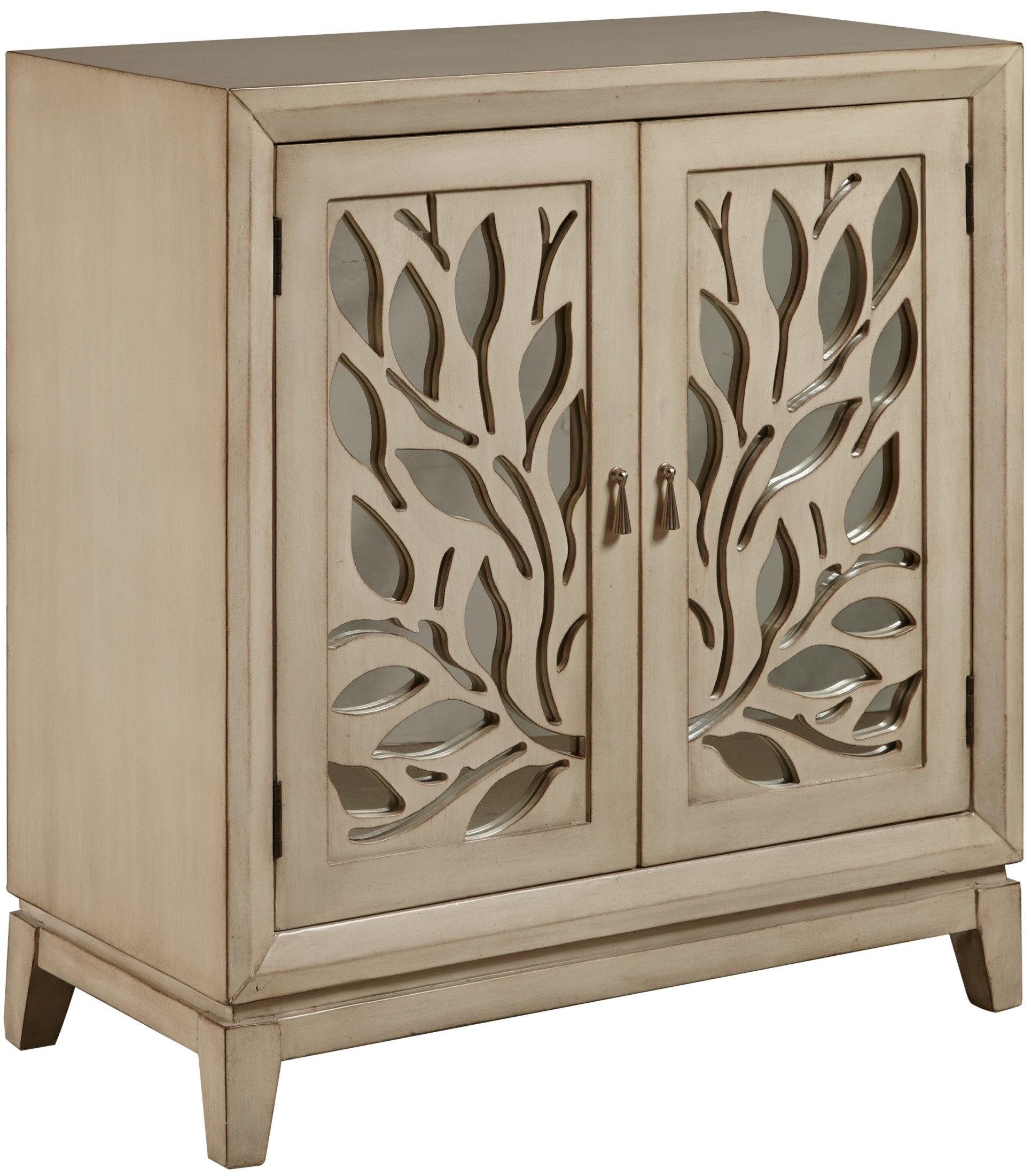 Distress Cabinets: Distressed White Door Cabinet From Pulaski (DS-A092004