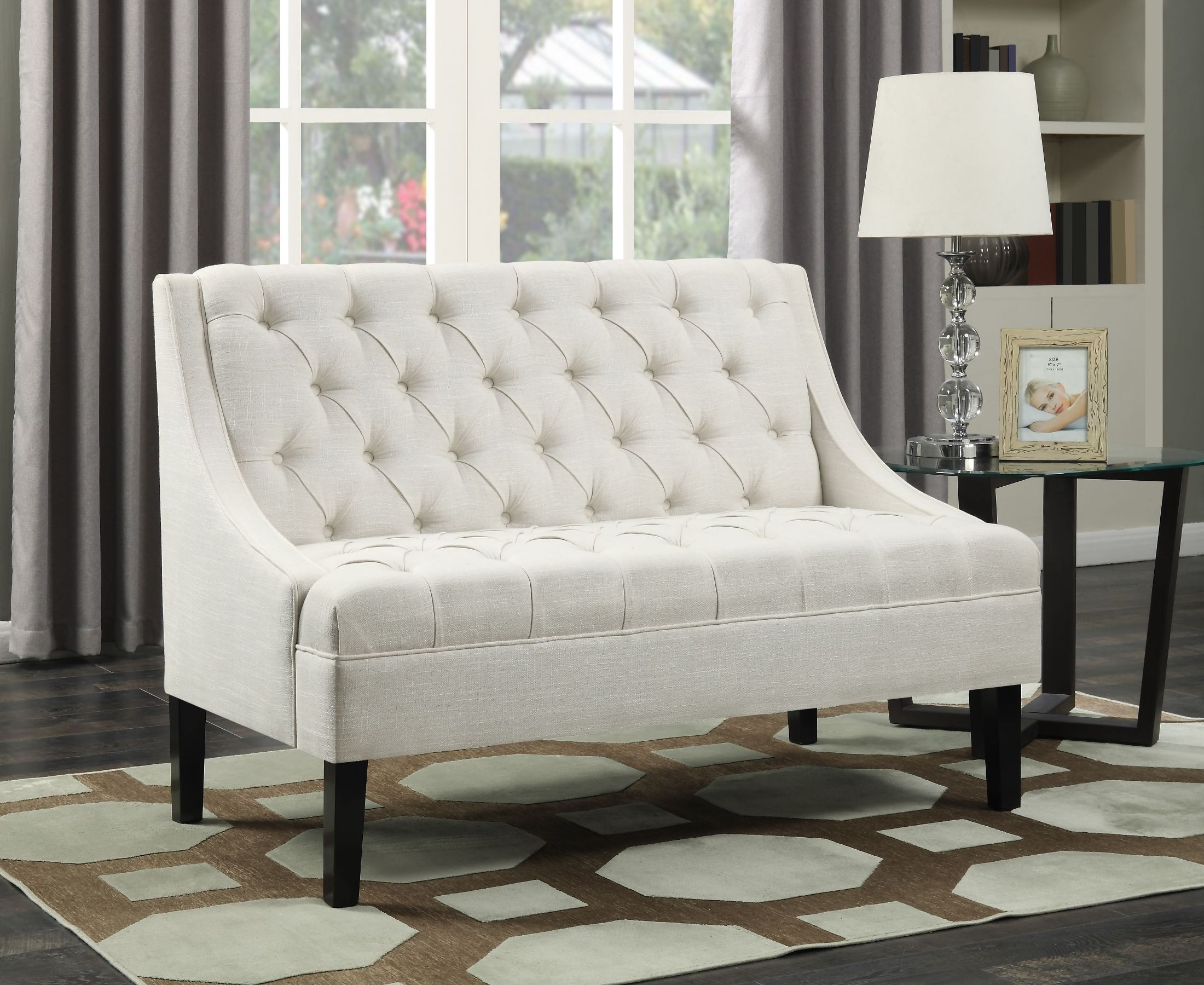 Avanti Powder Scoop Arm Button Tufted Settee From Pulaski | Coleman  Furniture