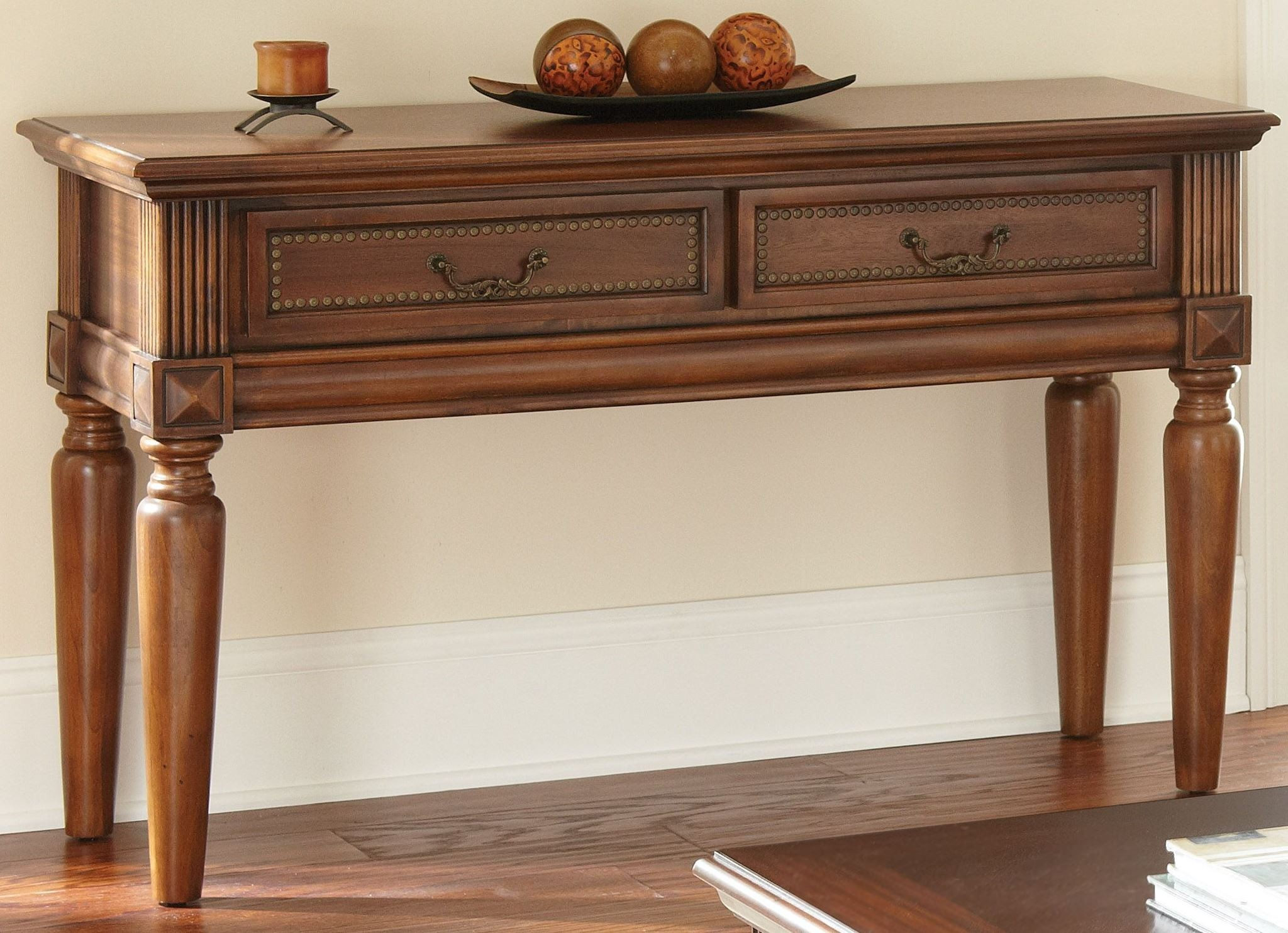 Davina Warm Cherry Sofa Table from Steve Silver (DV100S ...