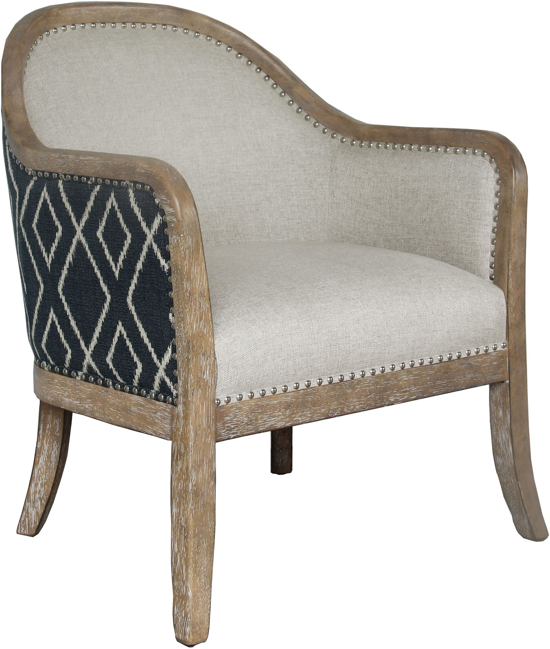 Small Accent Couch: Small Space Two-Tone Upholstered Accent Chair From Pulaski