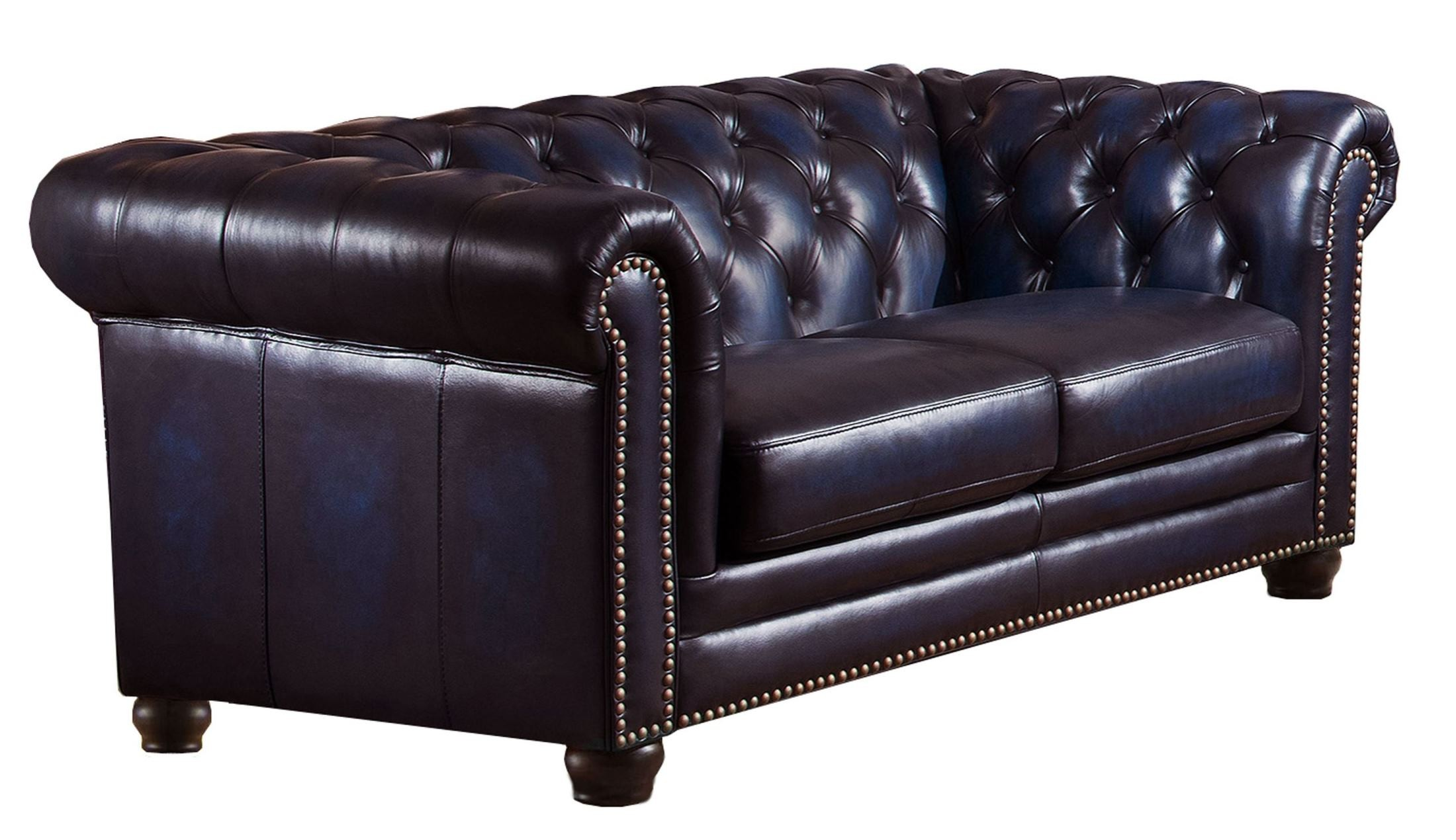 Dynasty Navy Blue Leather Loveseat From Amax Leather Coleman Furniture