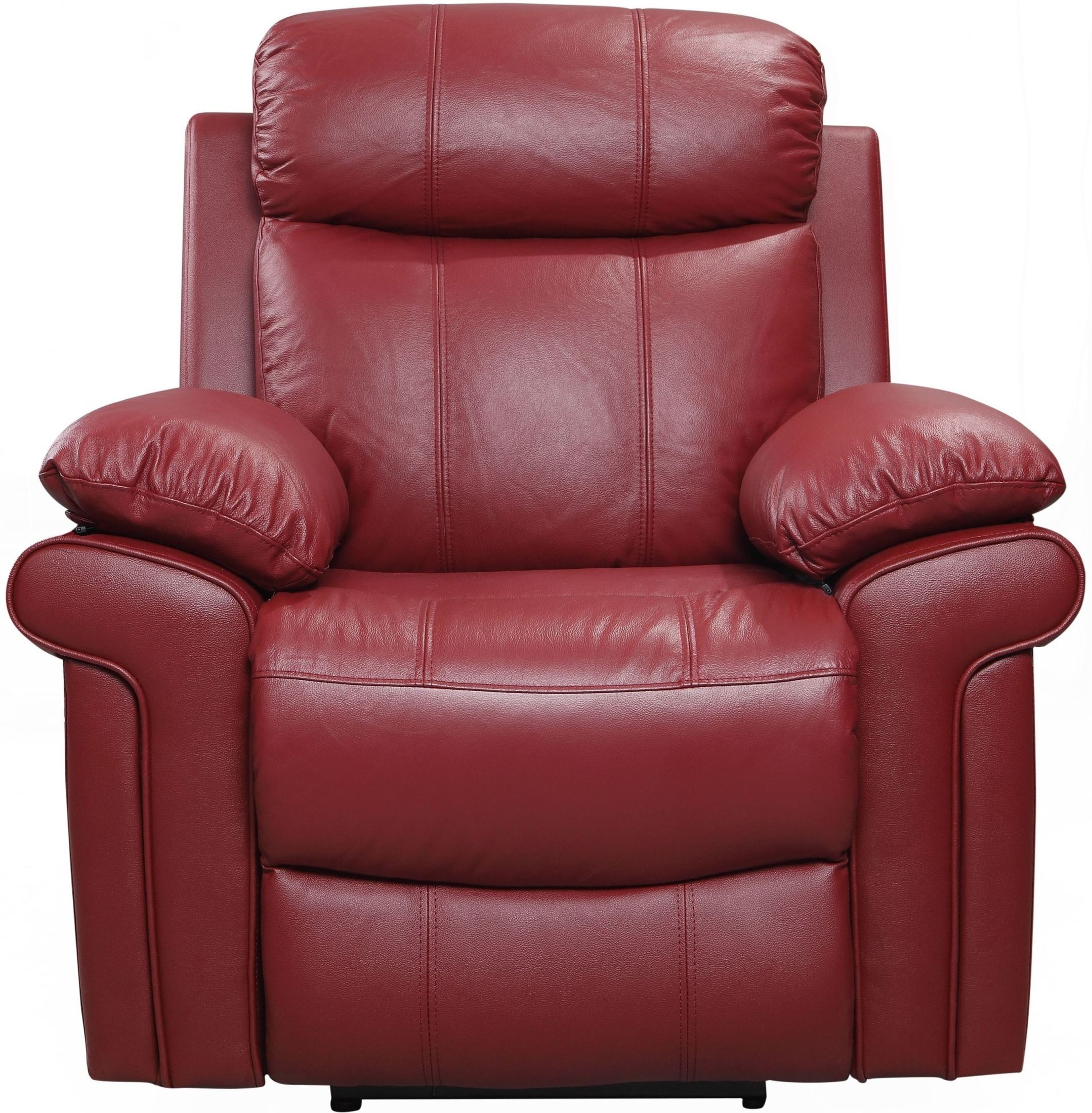 Shae Joplin Red Leather Power Reclining Sofa 1555 E2117