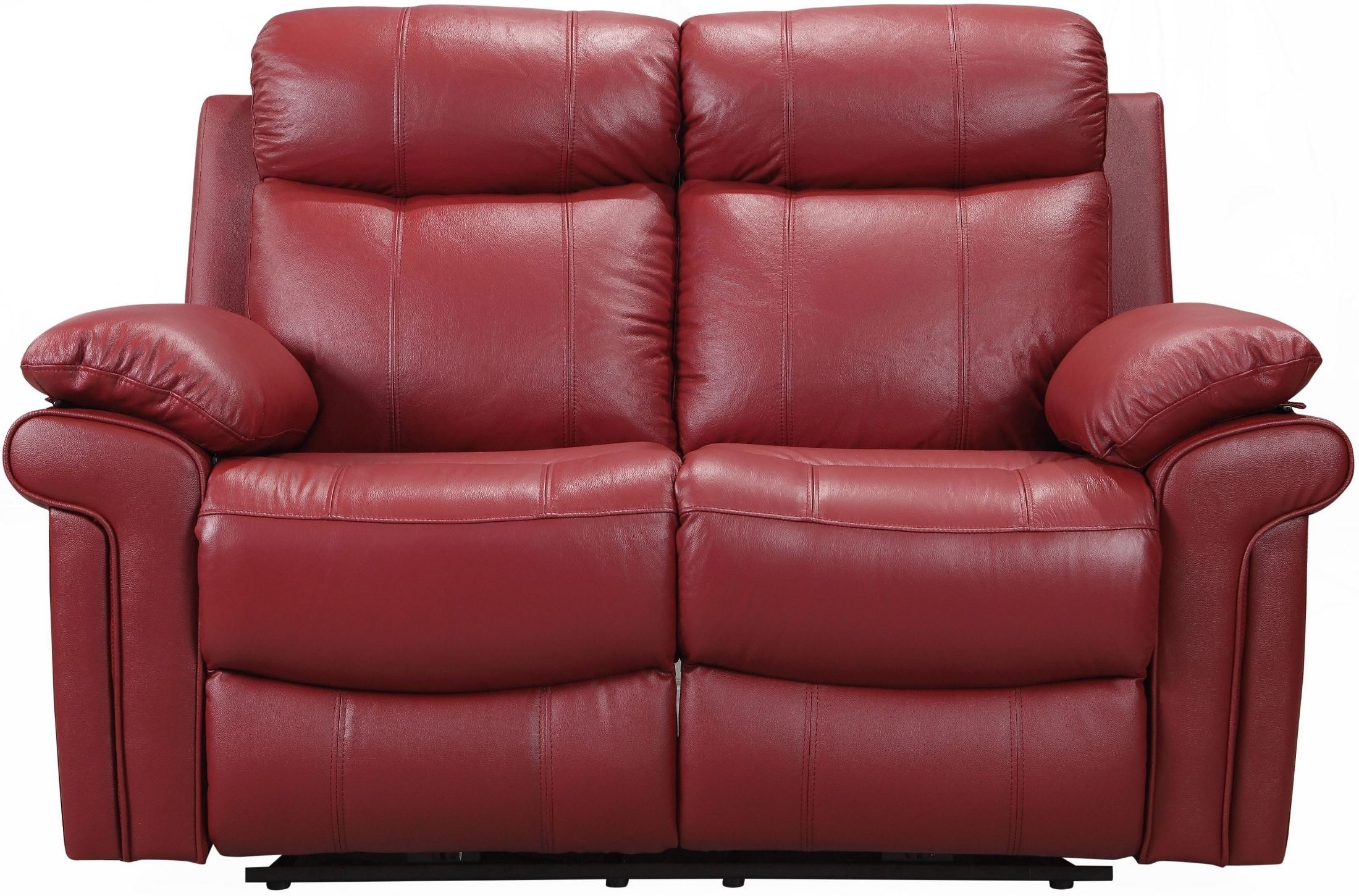 Shae Joplin Red Leather Power Reclining Loveseat From Luxe Leather Coleman Furniture