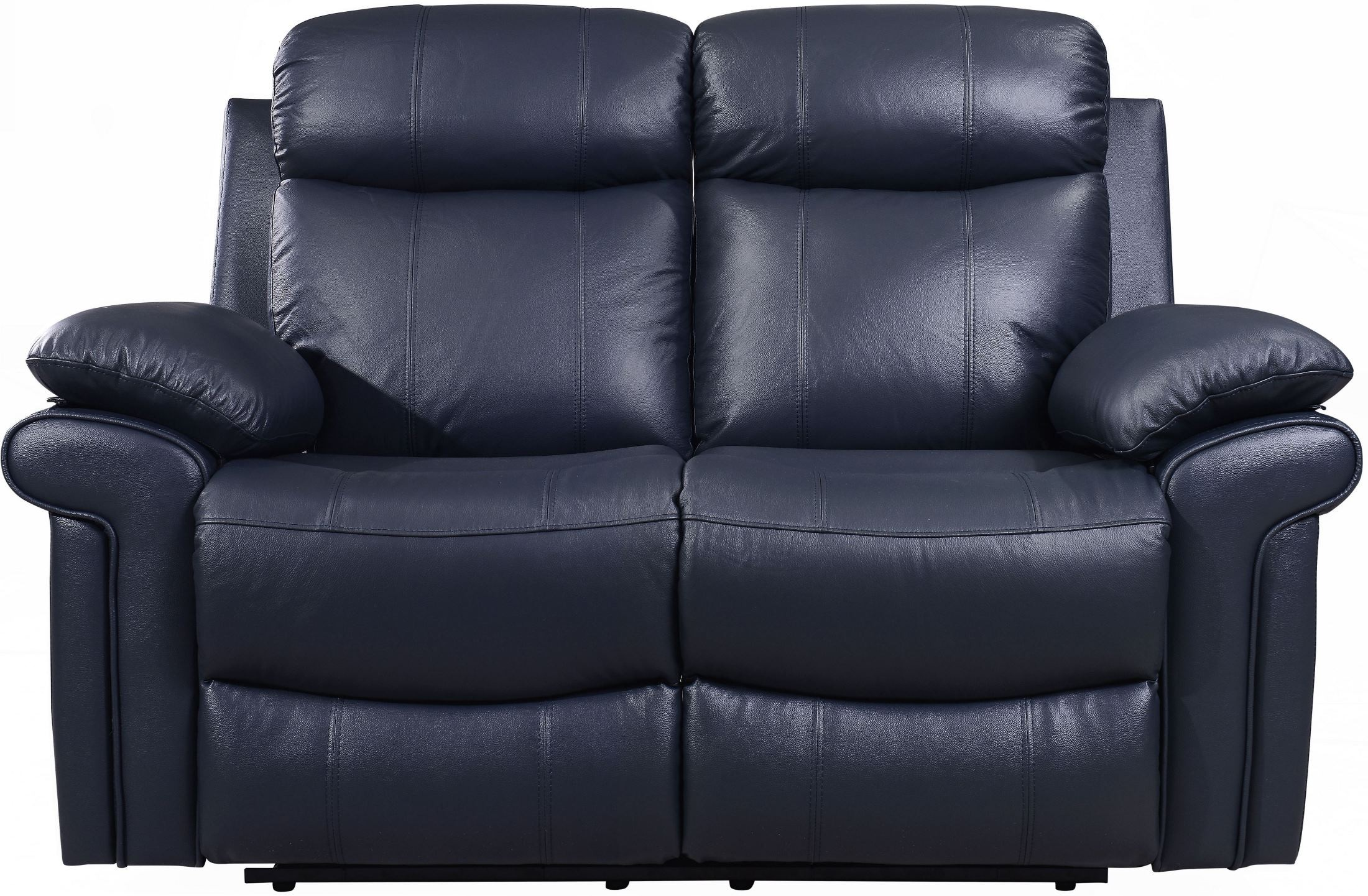 Shae Joplin Blue Leather Power Reclining Living Room Set from Luxe
