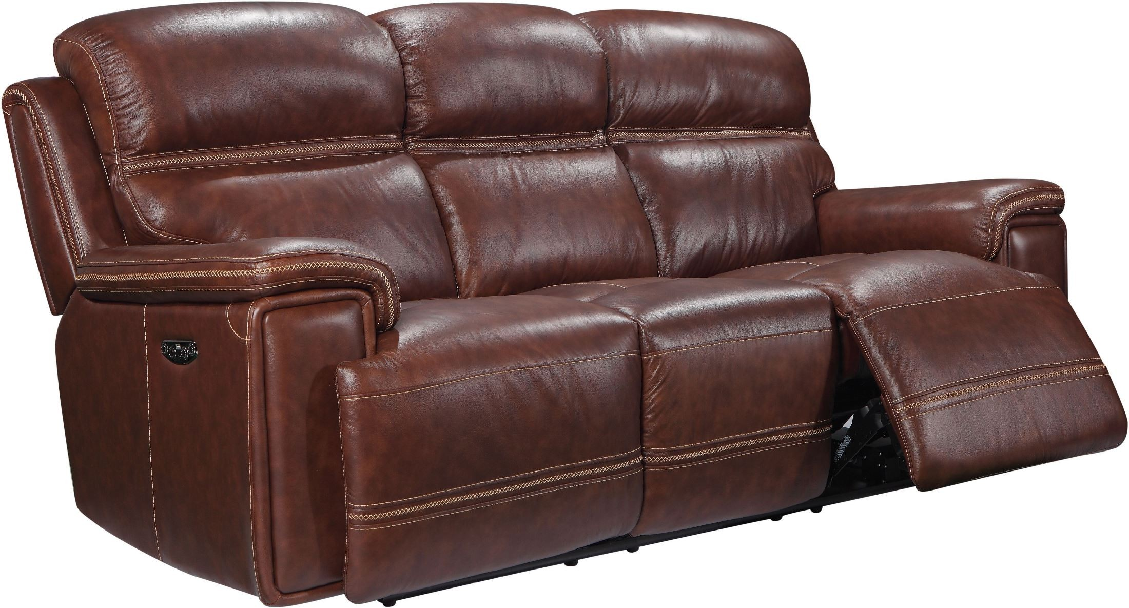 shae fresno brown leather reclining sofa from leather italia coleman furniture. Black Bedroom Furniture Sets. Home Design Ideas
