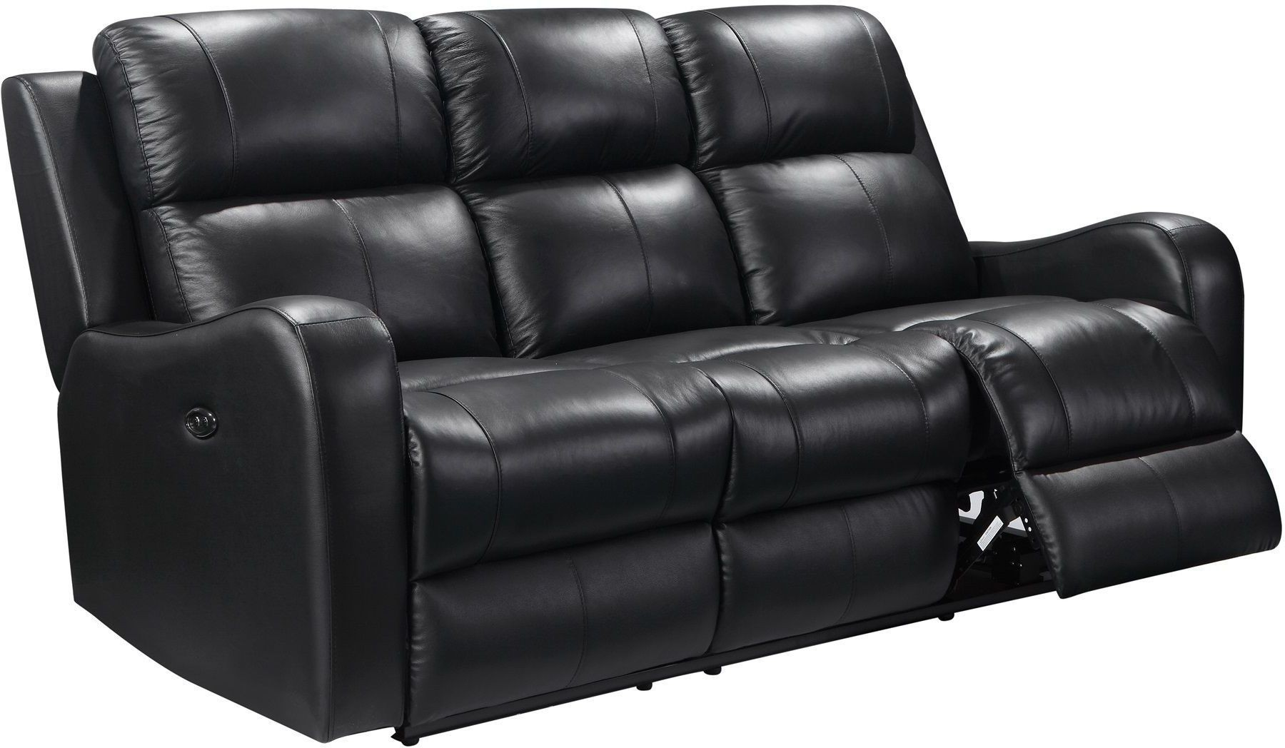 Shae Cortana Black Leather Power Reclining Sofa From Leather Italia