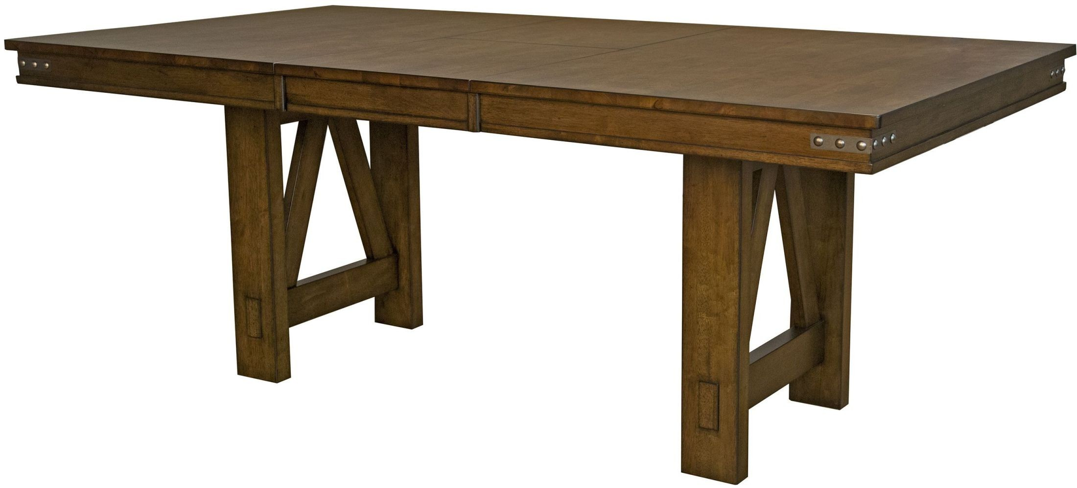 eastwood rich tobacco 78 extendable rectangular trestle dining table from a america coleman. Black Bedroom Furniture Sets. Home Design Ideas