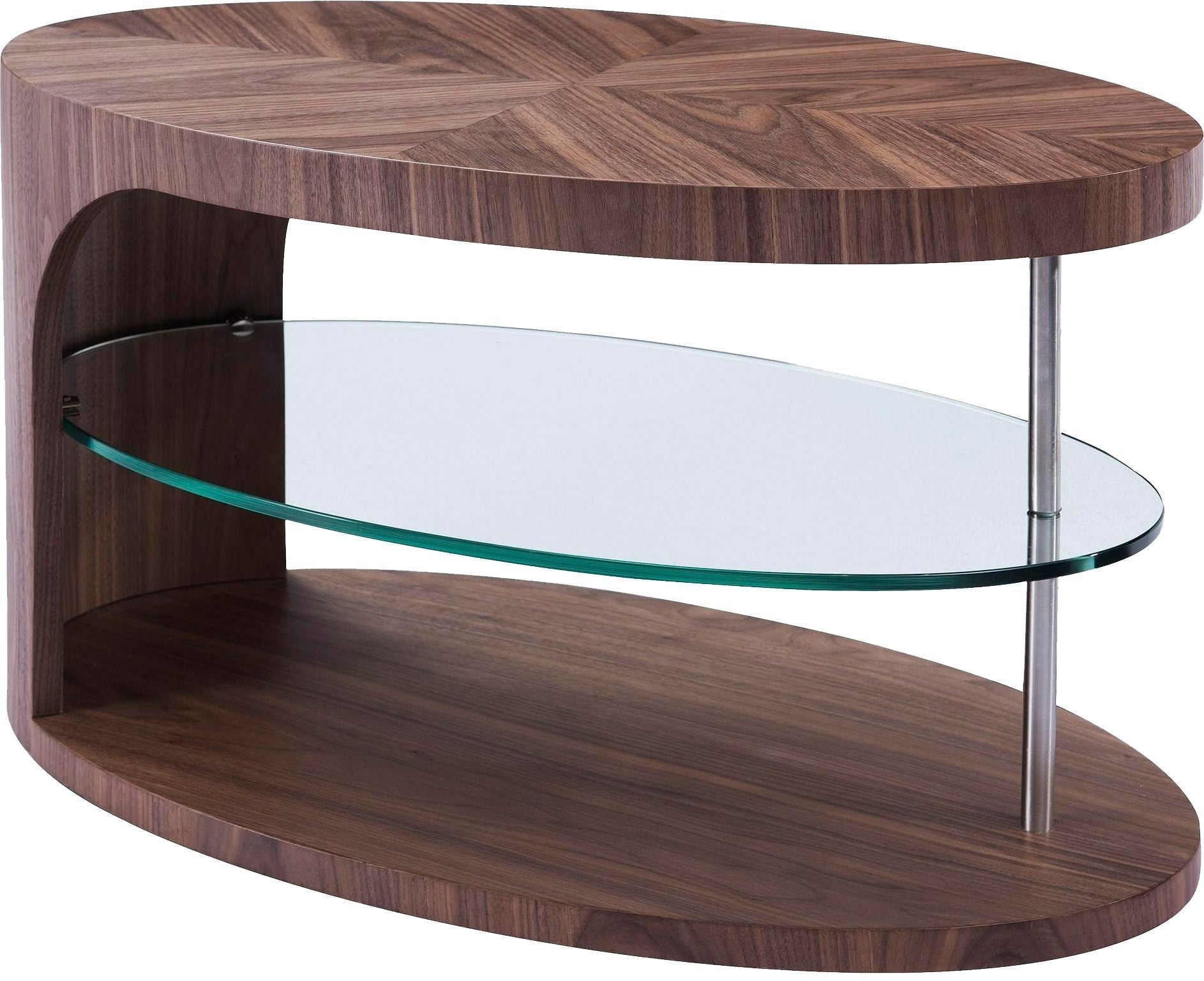 edie light walnut coffee table from bellini modern living coleman furniture. Black Bedroom Furniture Sets. Home Design Ideas