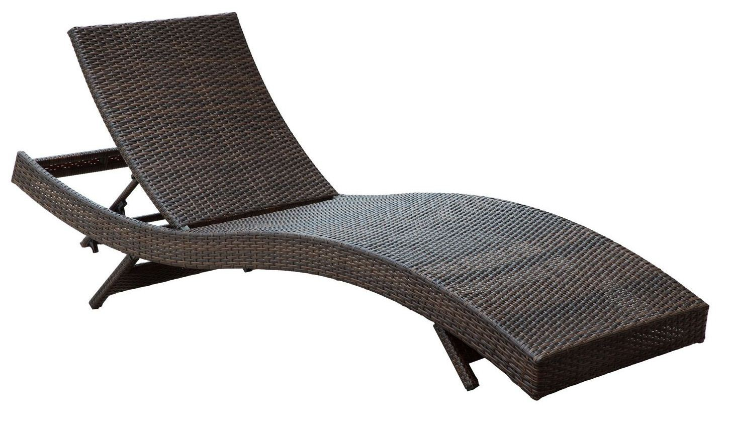 Peer Brown White Outdoor Patio Chaise Set Of 4 From